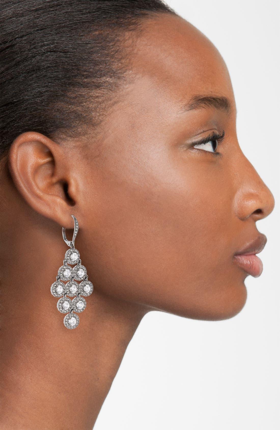 Alternate Image 2  - Nadri Kite Shaped Chandelier Earrings