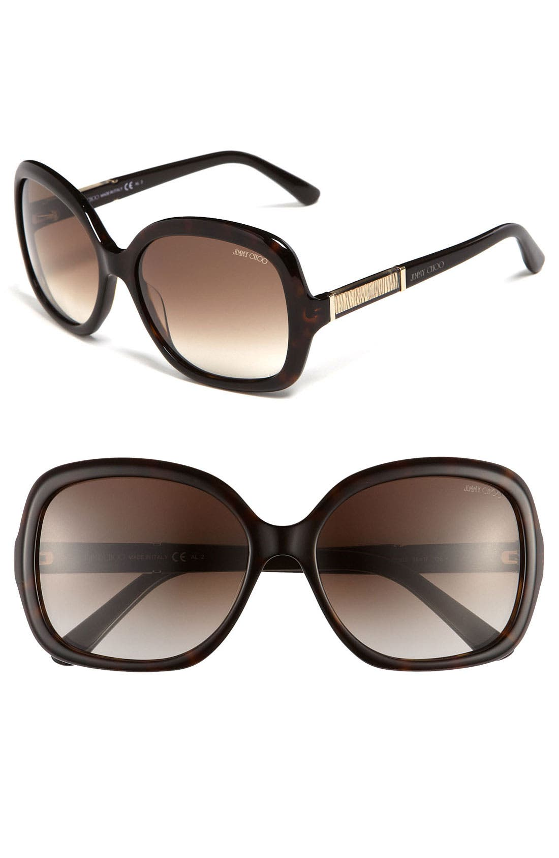 Alternate Image 1 Selected - Jimmy Choo 'Mita' Oversized Sunglasses
