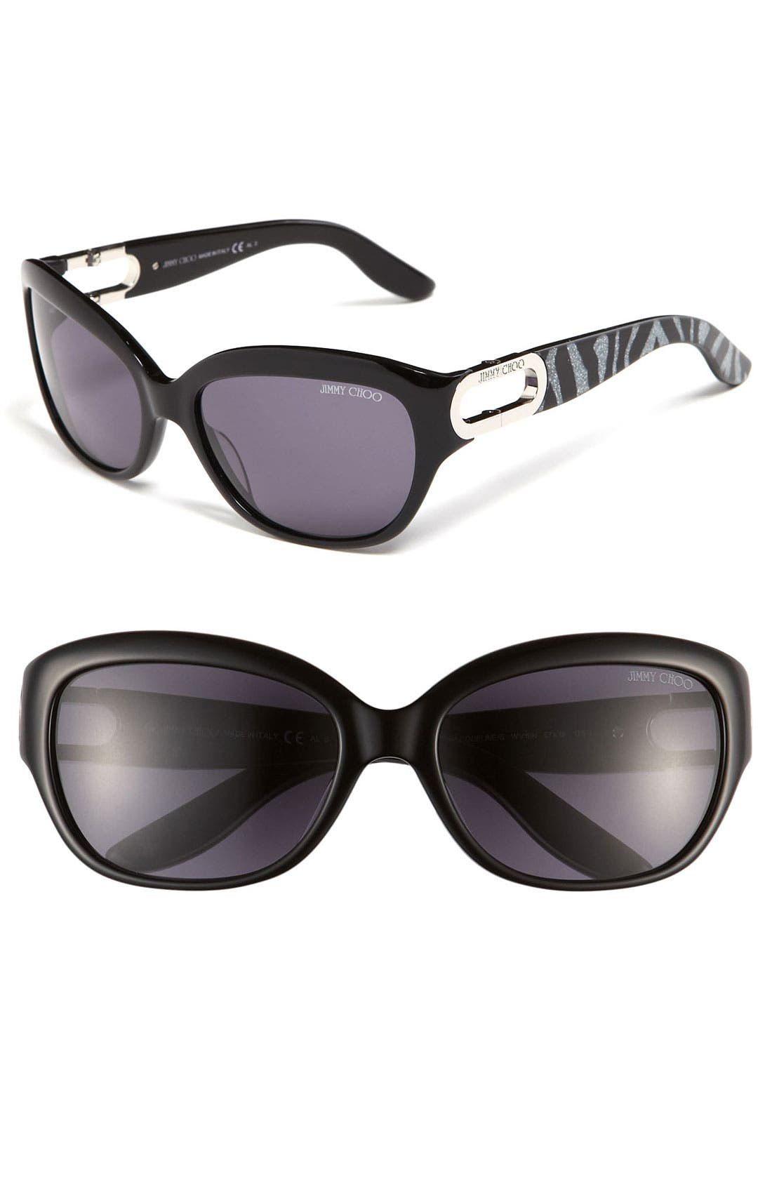 Main Image - Jimmy Choo 'Jaqueline' 57mm Cat's Eye Sunglasses
