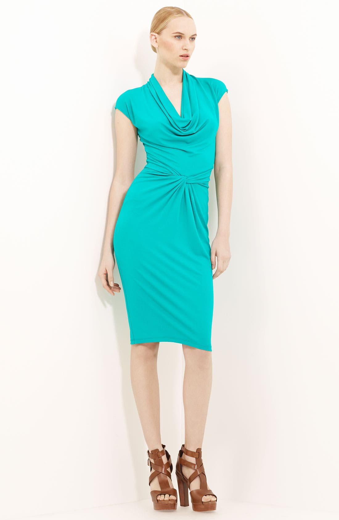 Alternate Image 1 Selected - Michael Kors Cowl Neck Matte Jersey Dress