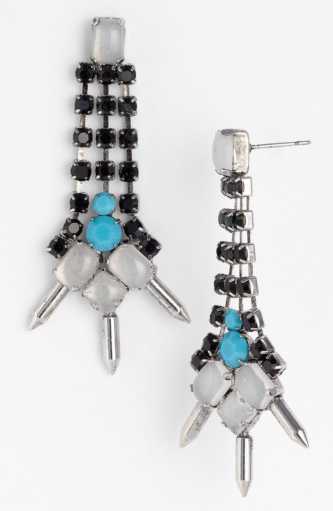 Alternate Image 1 Selected - Sweet Scandal Spiked Drop Earrings