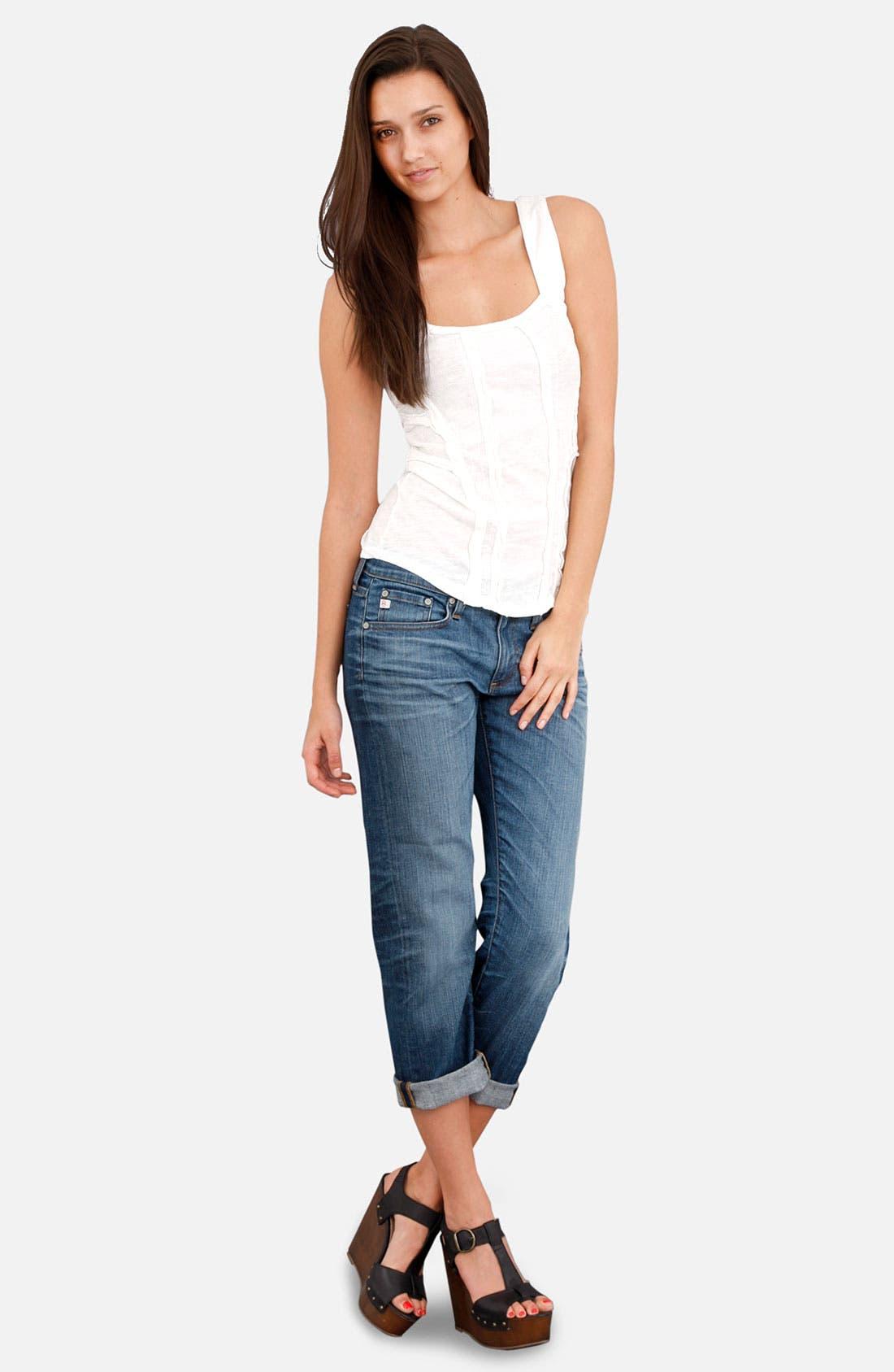 Alternate Image 4  - AG Jeans 'Tomboy' Crop Stretch Jeans (10 Year Vintage)