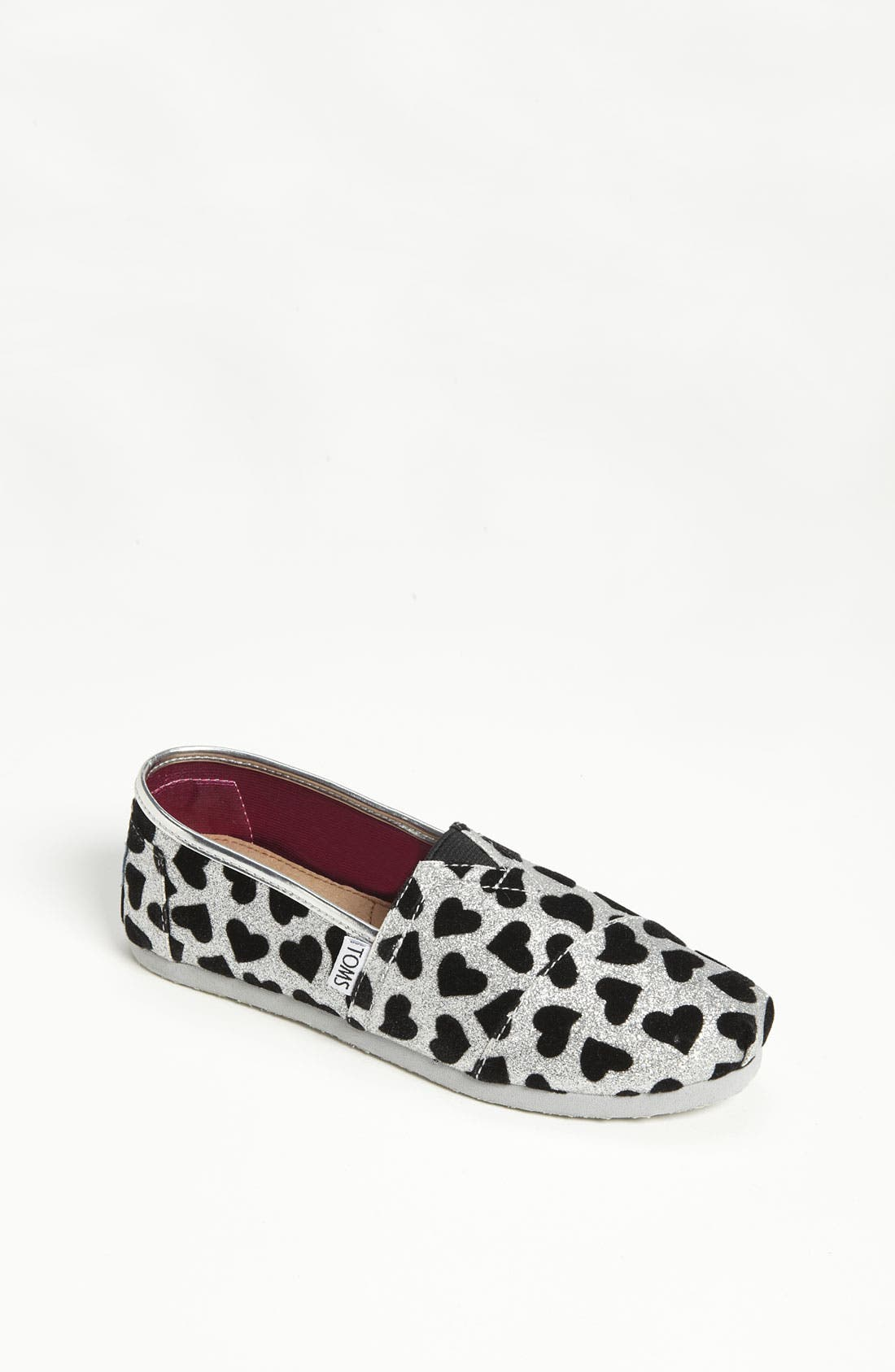 Main Image - TOMS 'Classic Youth - Hearts' Slip-On (Toddler, Little Kid & Big Kid)