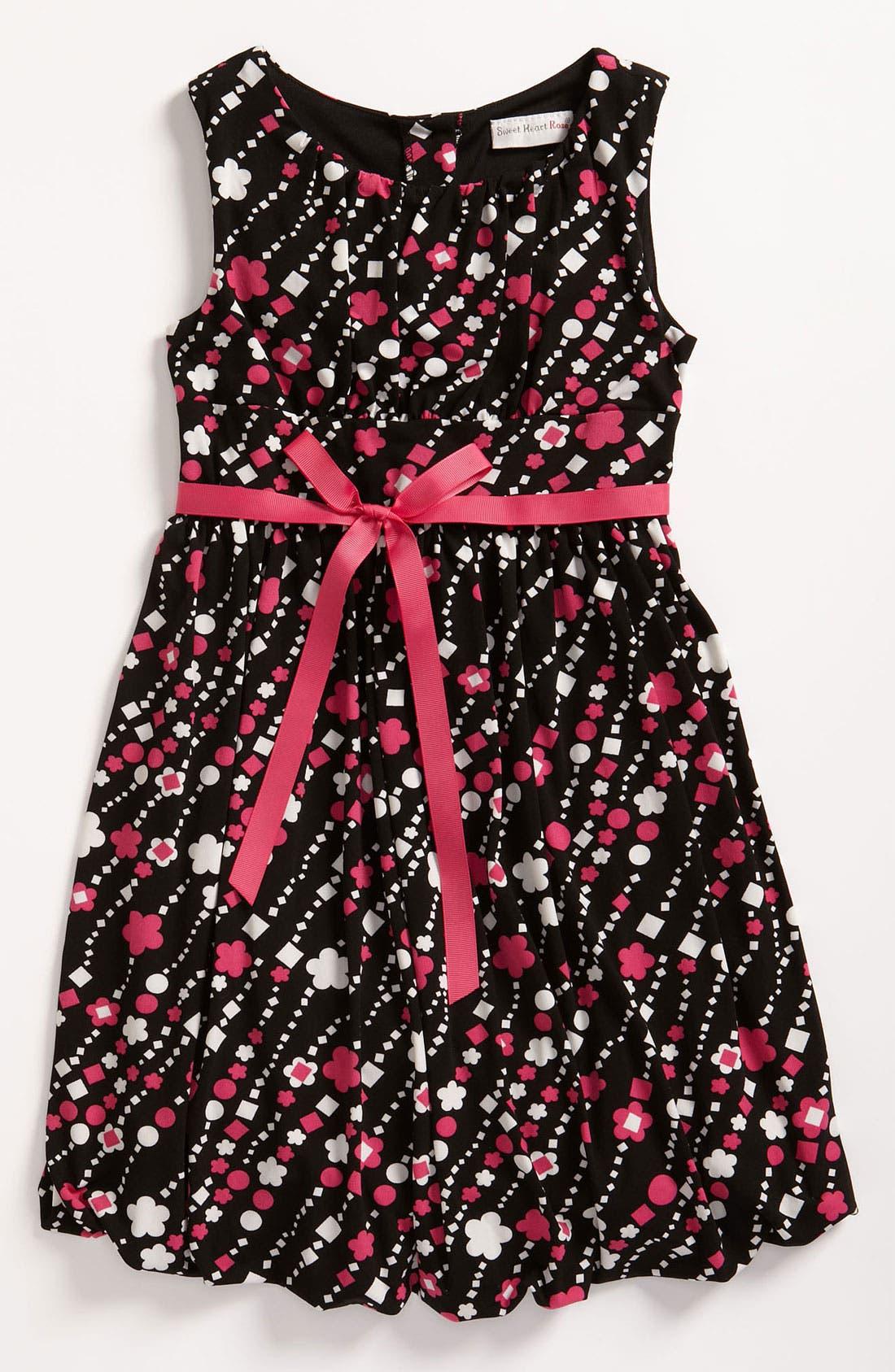 Main Image - Sweet Heart Rose Jersey Dress (Little Girls)