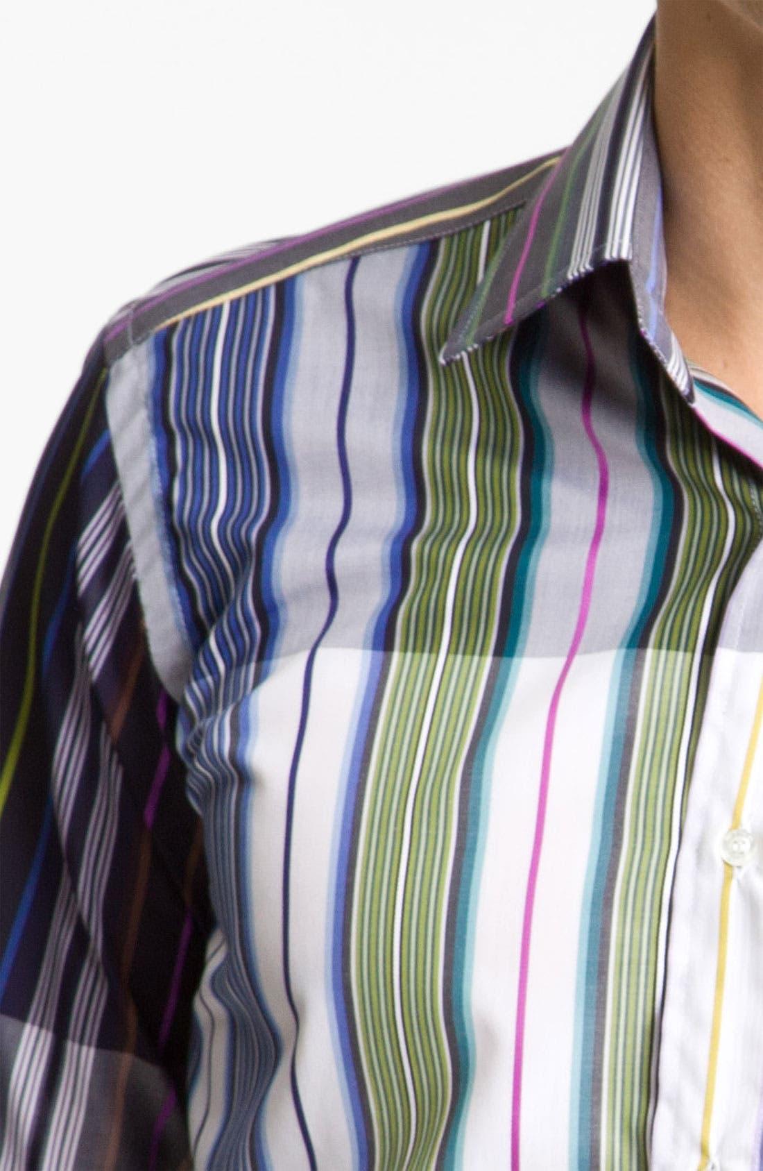 Alternate Image 4  - Etro Stripe Cotton Shirt