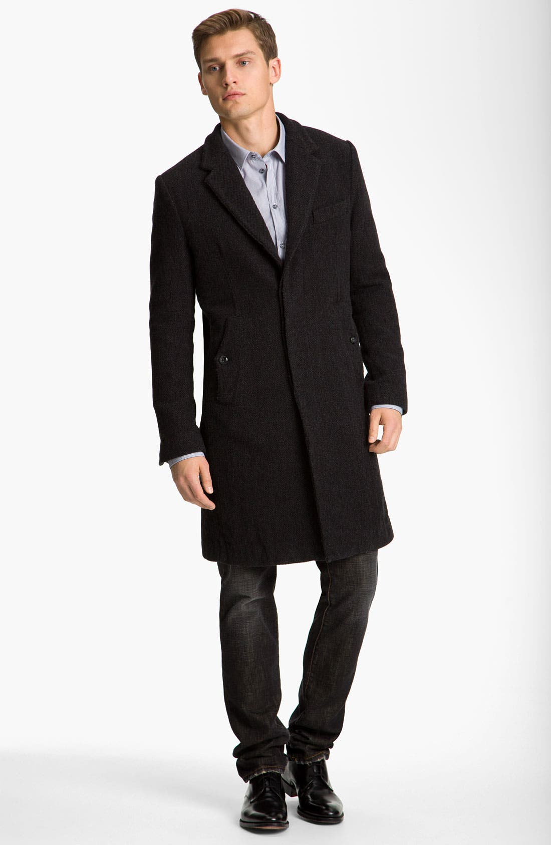 Alternate Image 1 Selected - Dolce&Gabbana Long Tweed Overcoat