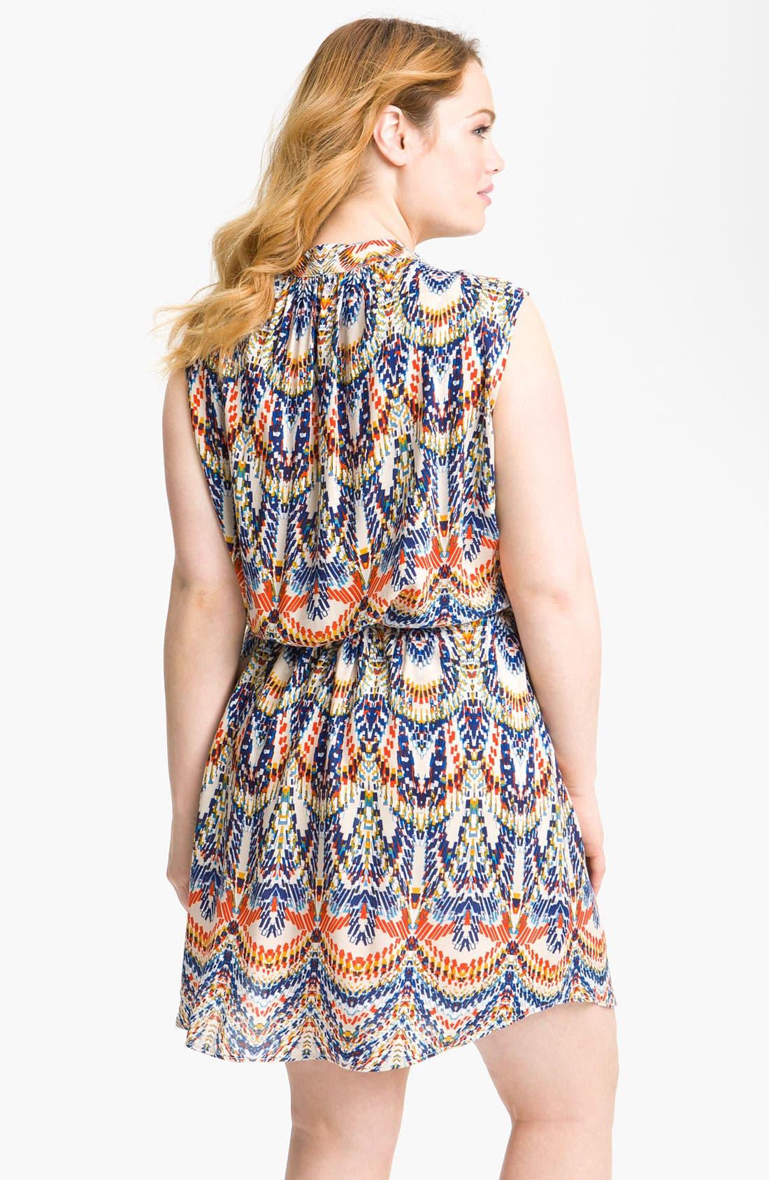 Alternate Image 2  - Eight Sixty Blouson Sleeveless Dress (Plus)