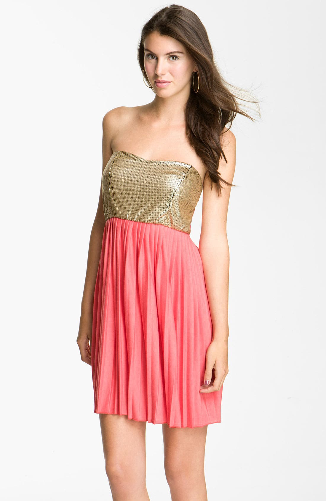Alternate Image 1 Selected - Accidentally In Love Sequin Bodice Dress (Juniors)
