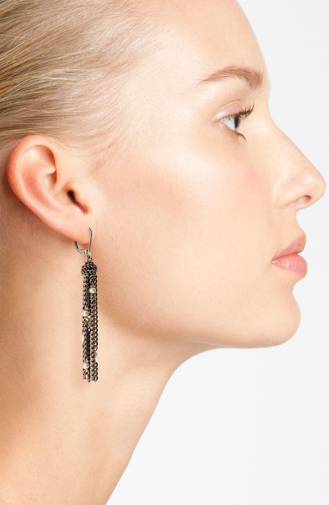 Alternate Image 2  - Givenchy Glass Pearl Tassel Earrings