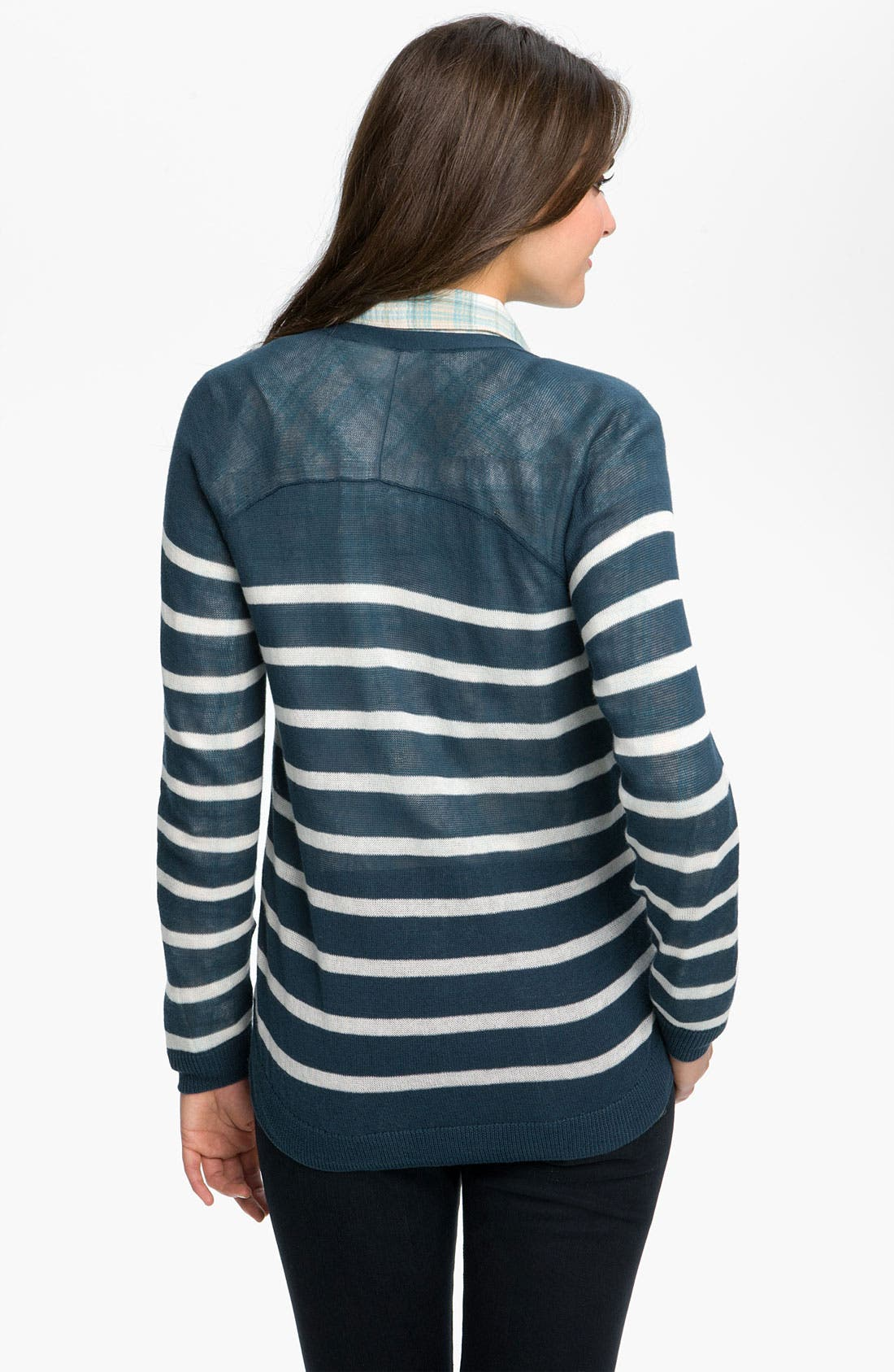 Alternate Image 2  - Caslon® Raglan Sleeve V-Neck Cardigan