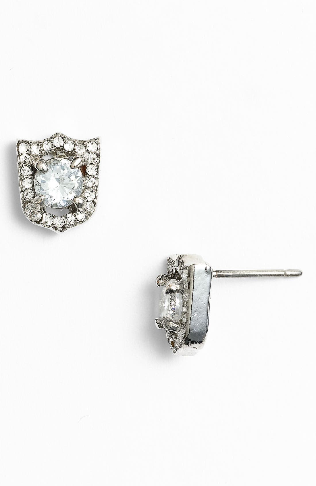 Alternate Image 1 Selected - Juicy Couture 'Key to the Castle' Shield Stud Earrings