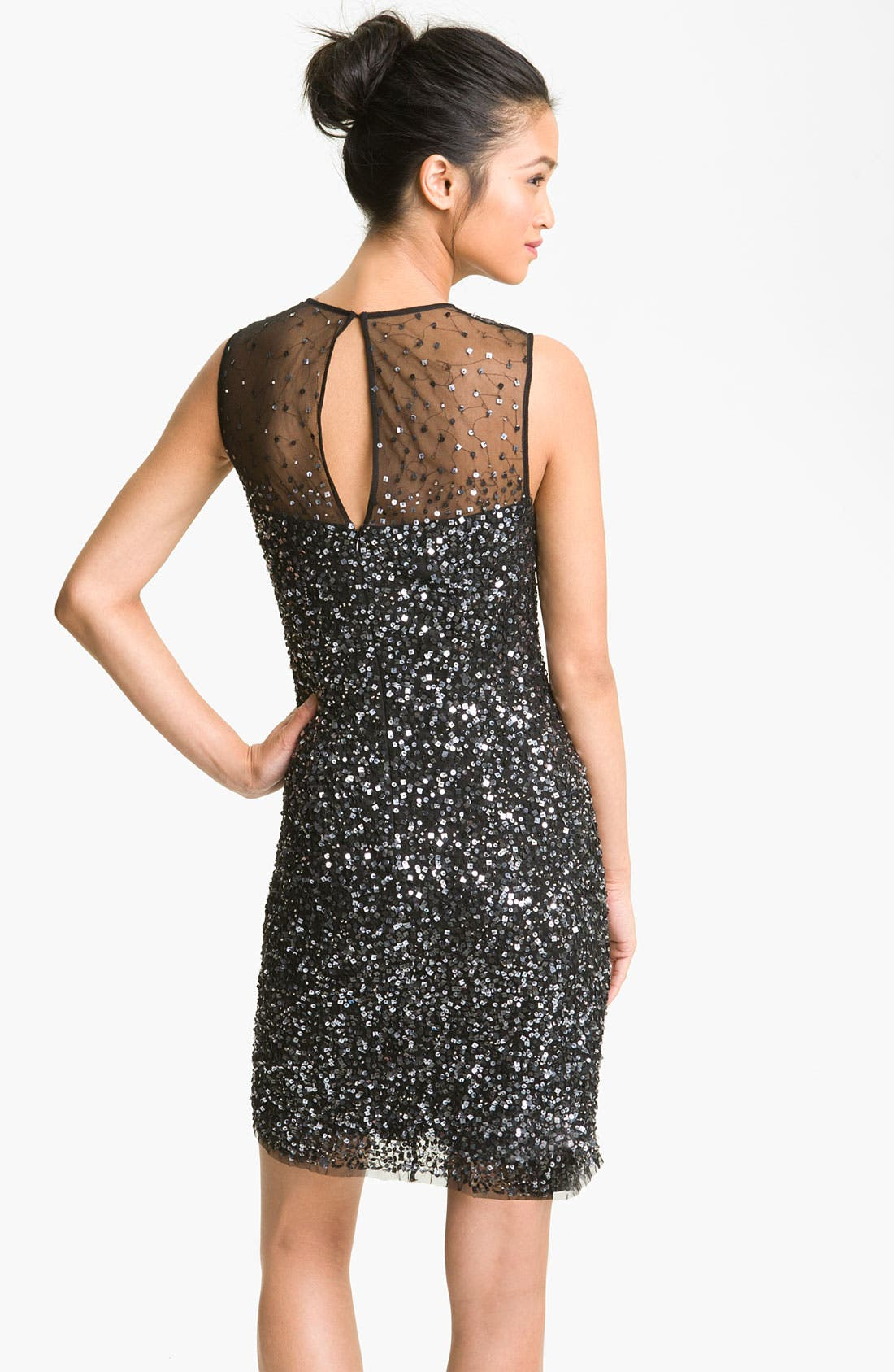 Alternate Image 2  - Guilia Illusion Sequin Sheath Dress