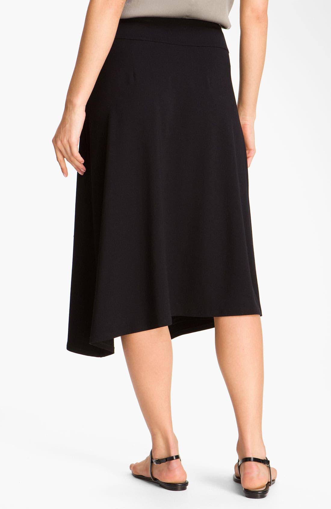 Alternate Image 2  - Eileen Fisher Faux Wrap Jersey Skirt