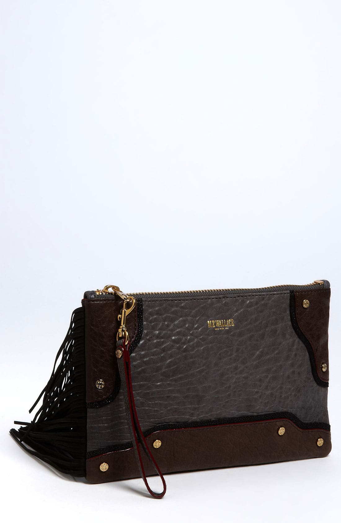 Main Image - MZ Wallace 'Hamish' Mixed Leather Clutch