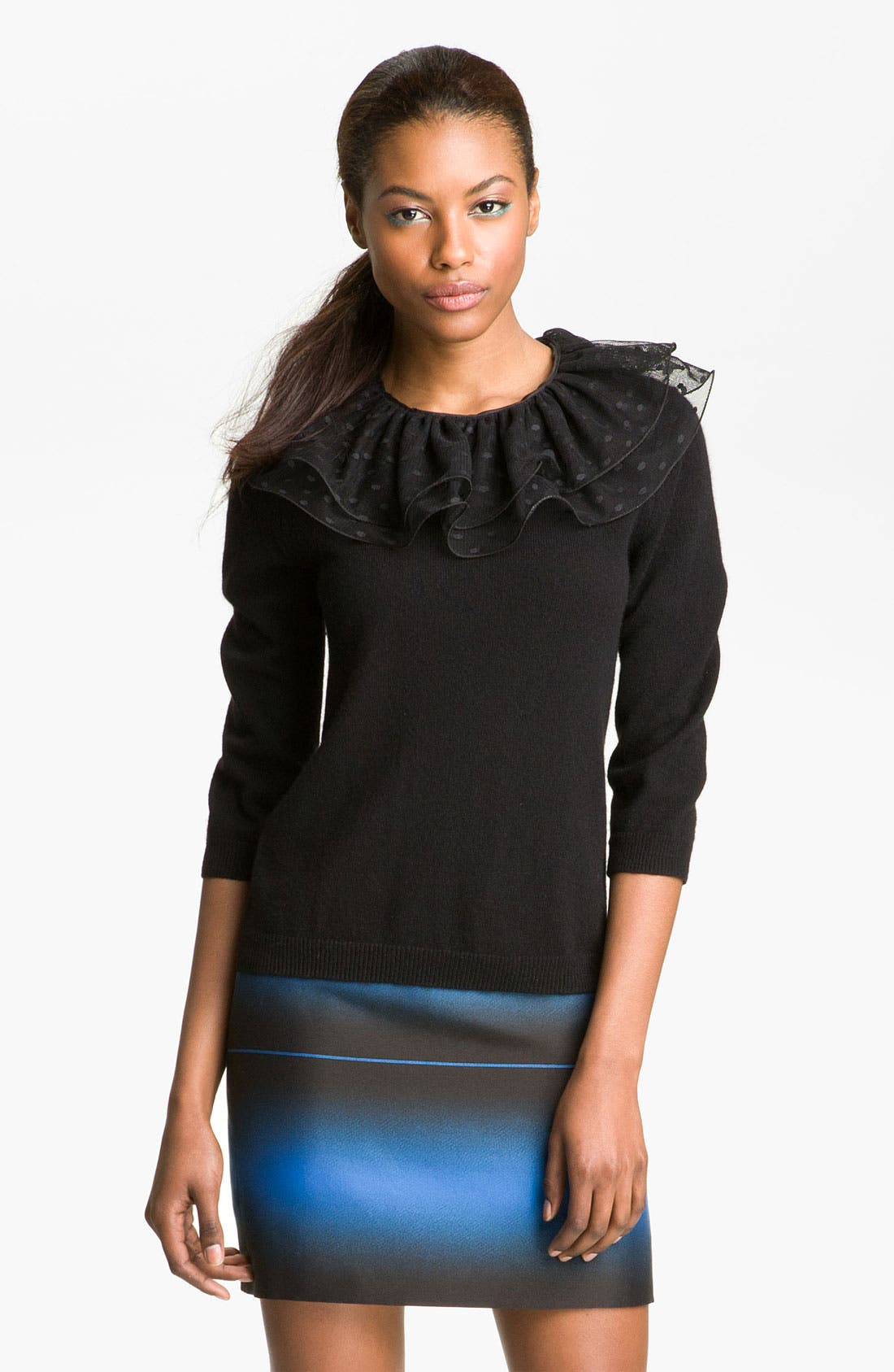 Alternate Image 1 Selected - MARC BY MARC JACOBS 'Sonia' Lace Collar Sweater