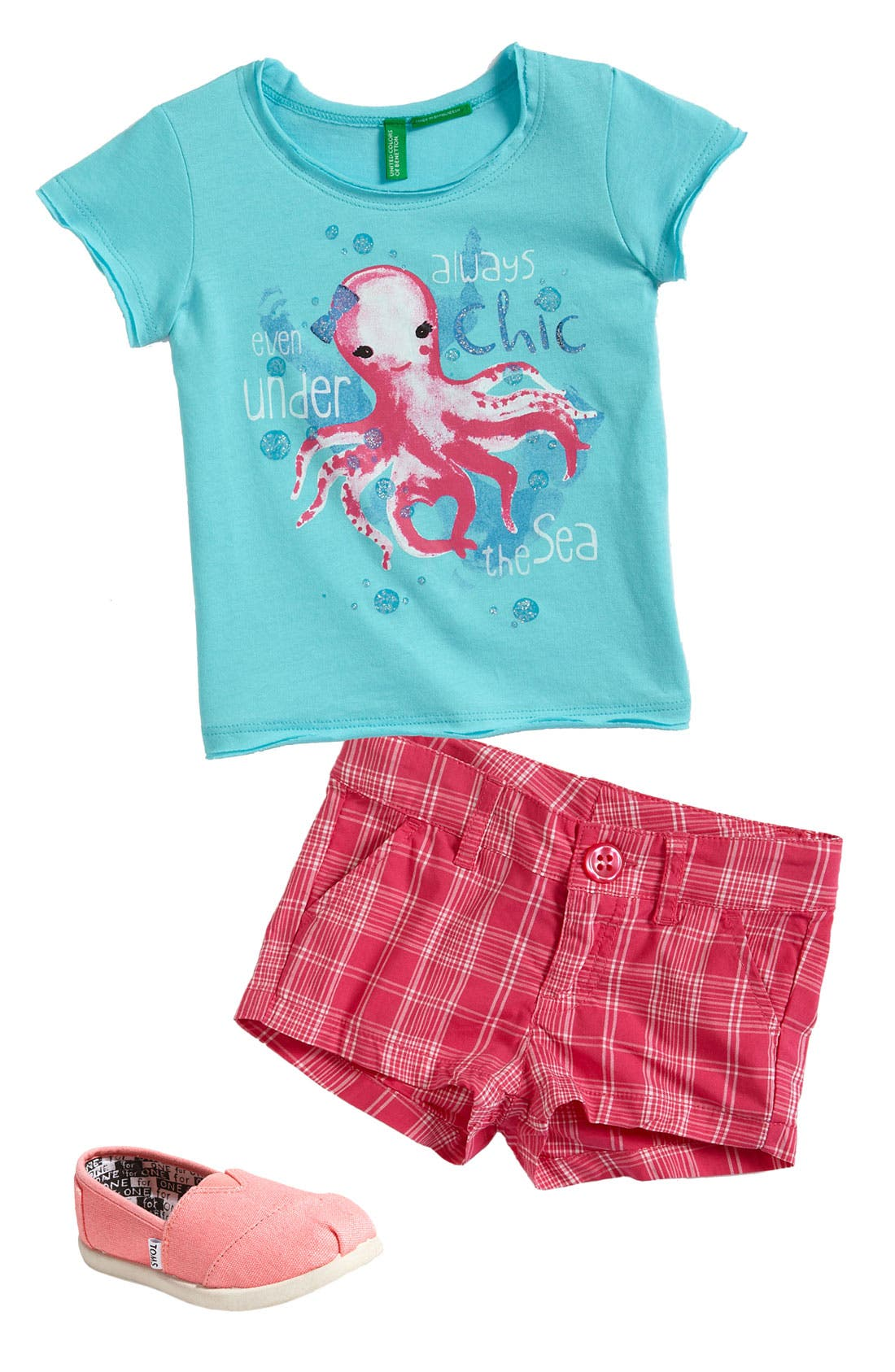 Main Image - United Colors of Benetton Kids Tee & Shorts (Toddler)