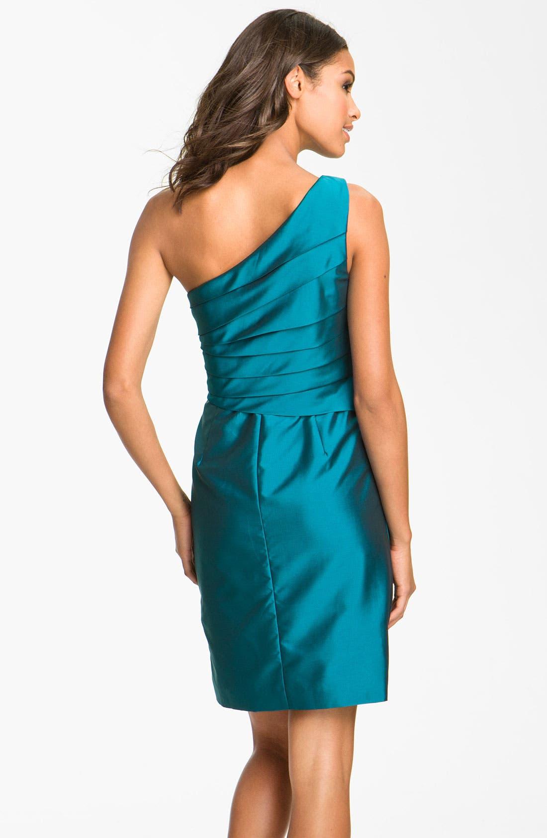Alternate Image 2  - Eliza J One Shoulder Taffeta Dress