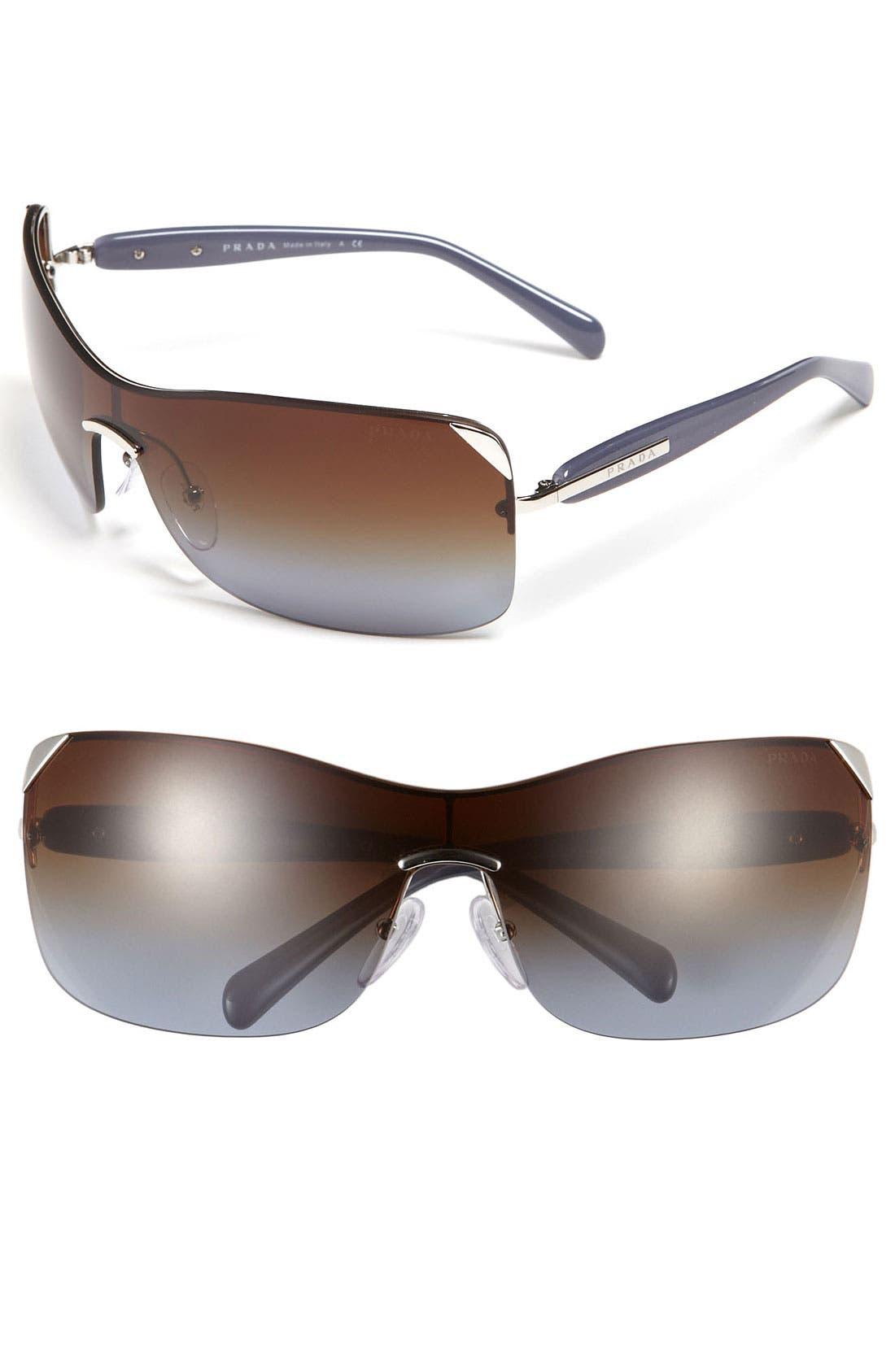 Alternate Image 1 Selected - Prada 63mm Shield Sunglasses