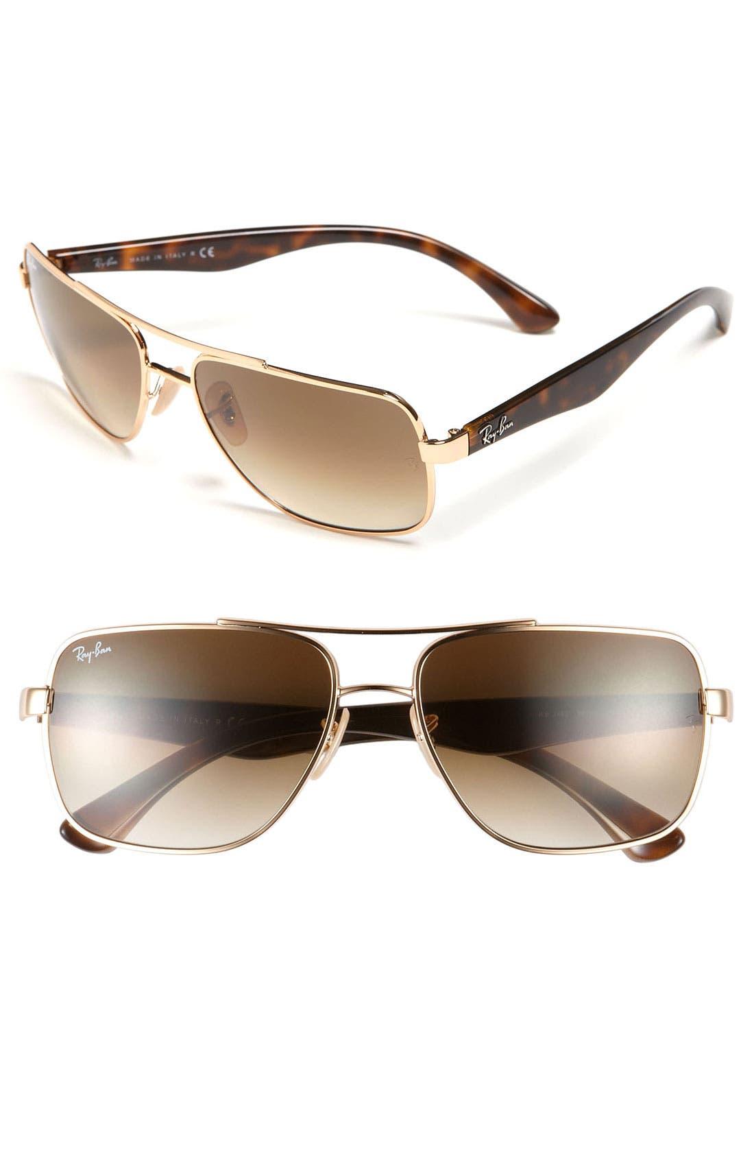 Alternate Image 1 Selected - Ray-Ban 60mm Navigator Sunglasses
