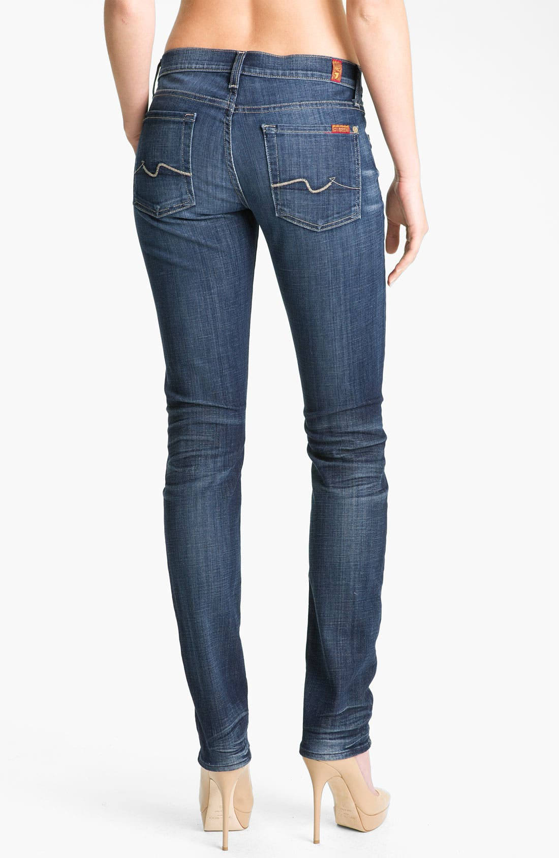 Alternate Image 2  - 7 For All Mankind® 'Roxanne' Straight Leg Jeans (Royal Mountain Valley)