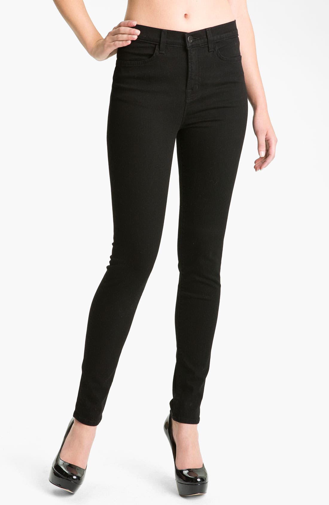Main Image - J Brand '2311 Maria' High Rise Skinny Stretch Jeans (Hewson Wash)