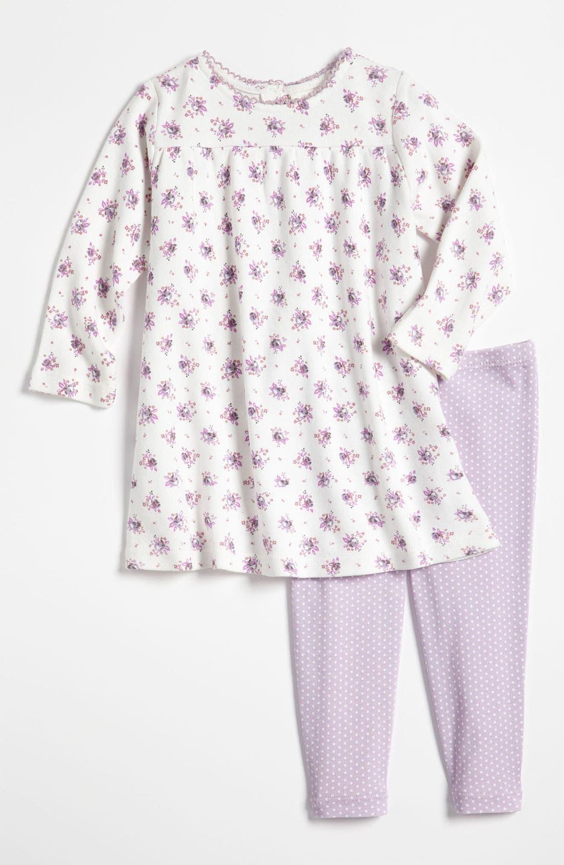 Alternate Image 1 Selected - Nordstrom Baby Dress & Leggings (Infant)