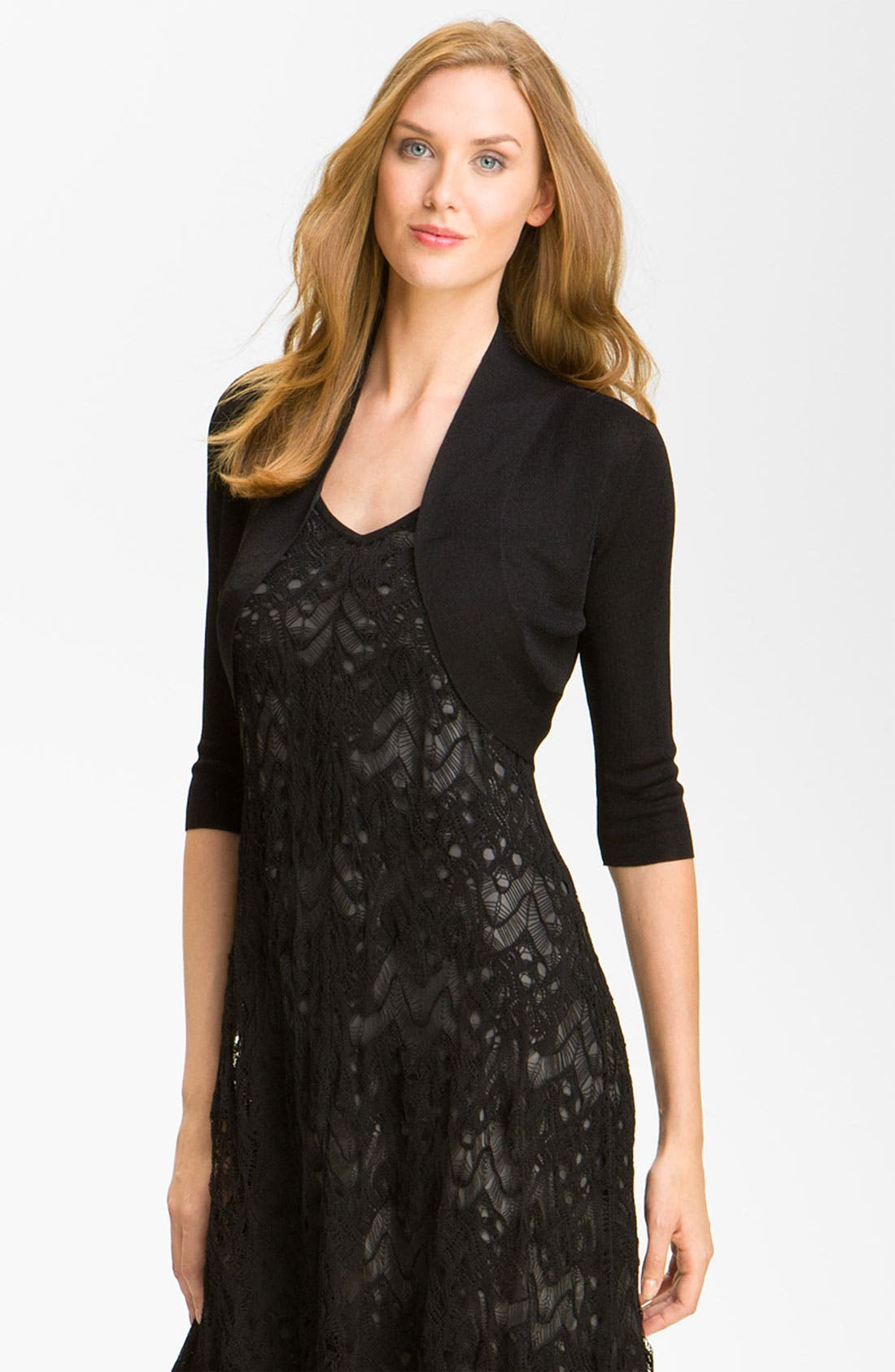 Alternate Image 1 Selected - Eileen Fisher Open Front Shrug (Online Only)