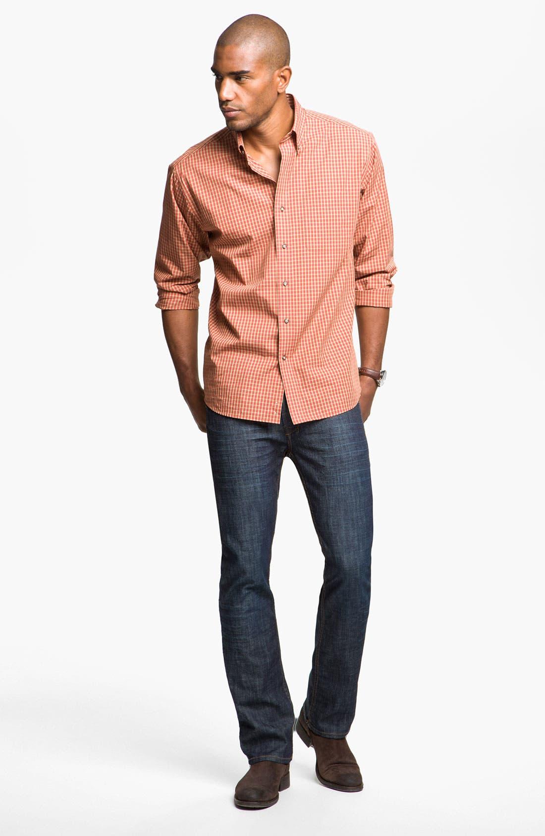 Alternate Image 4  - Cutter & Buck 'Spruce' Check Sport Shirt (Big & Tall)