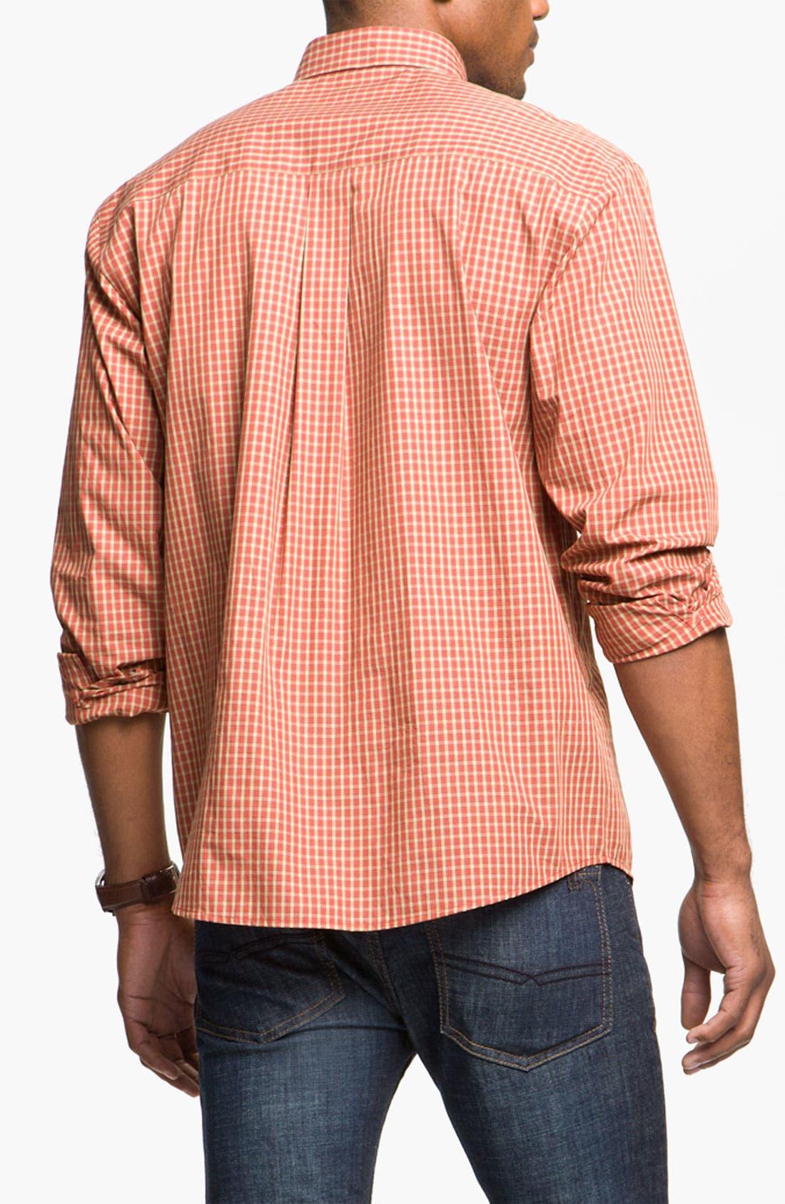 Alternate Image 2  - Cutter & Buck 'Spruce' Check Sport Shirt (Big & Tall)