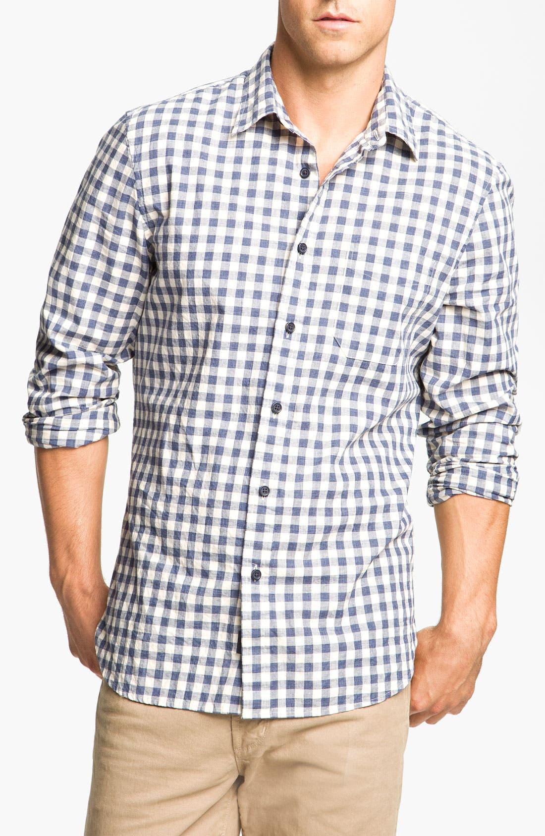 Main Image - Wallin & Bros. Check Poplin Sport Shirt