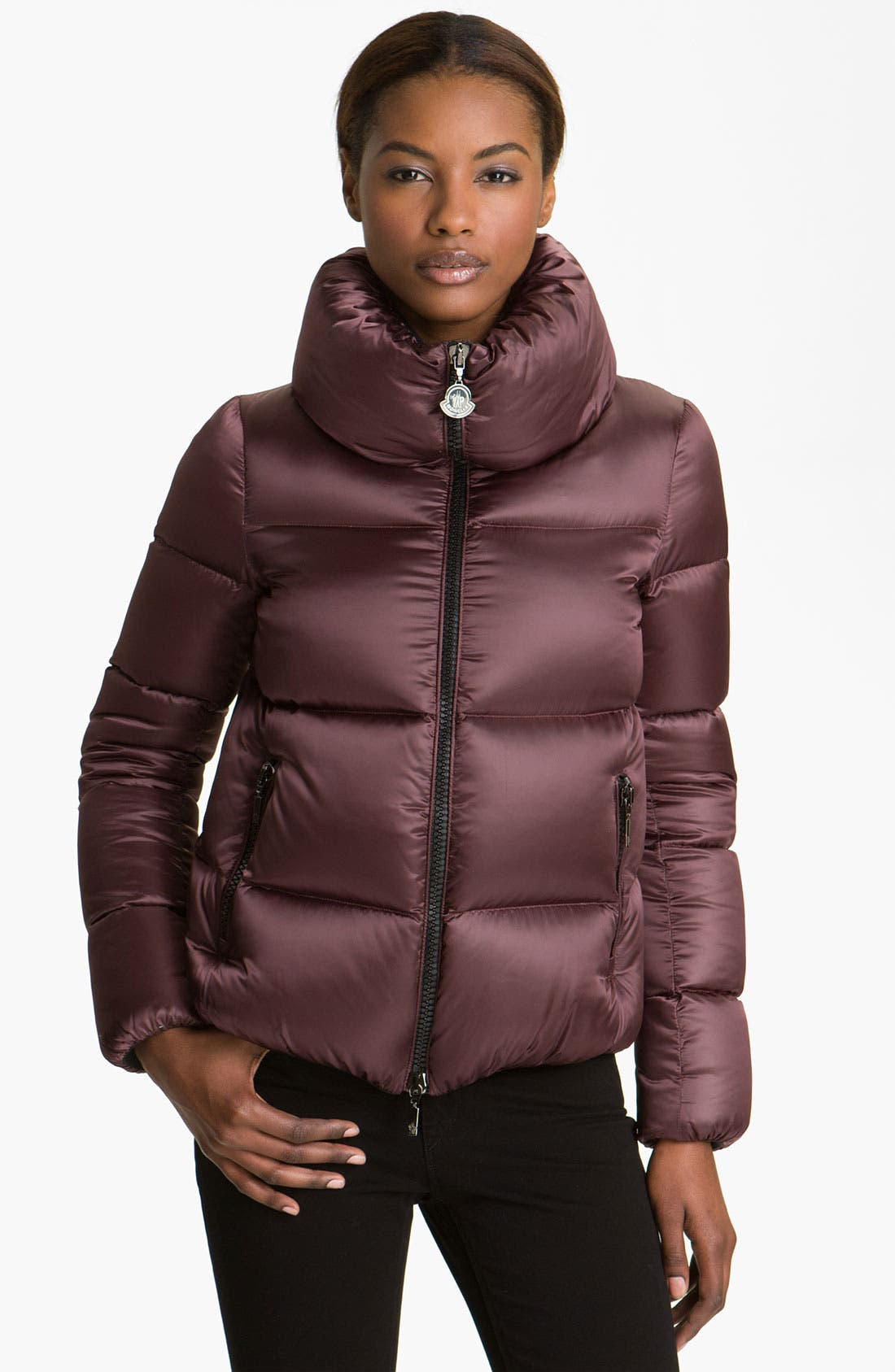 Main Image - Moncler 'Erable' Pillow Collar Down Puffer Jacket