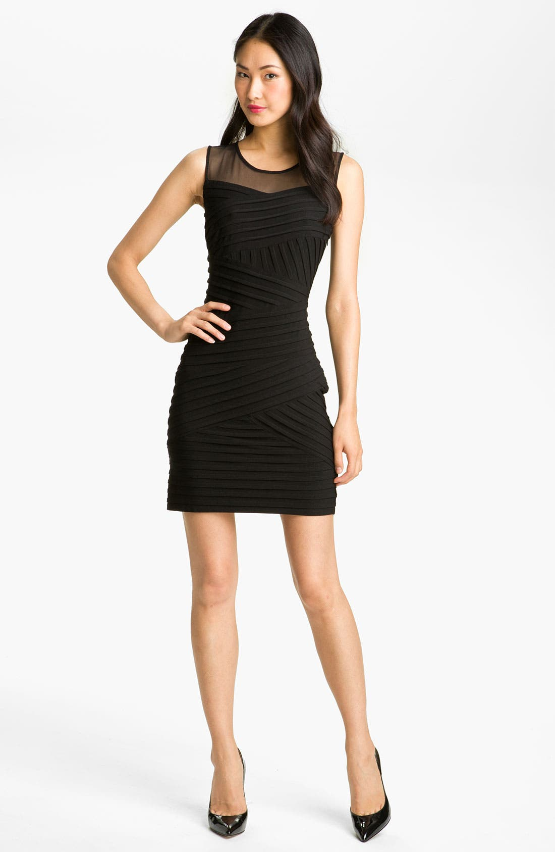 Alternate Image 4  - Calvin Klein Illusion Yoke Pleated Jersey Dress