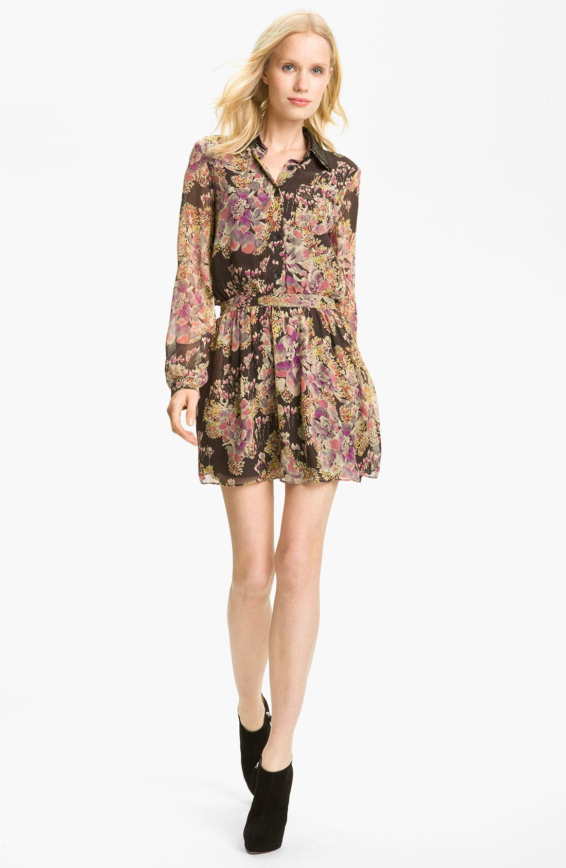 Alternate Image 1 Selected - Gryphon Floral Print Silk Chiffon Shirtdress
