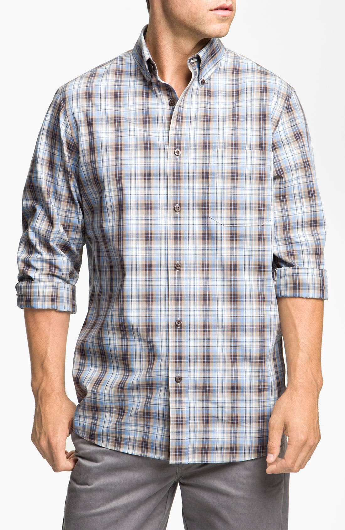 Alternate Image 1 Selected - Nordstrom Smartcare™ Poplin Sport Shirt