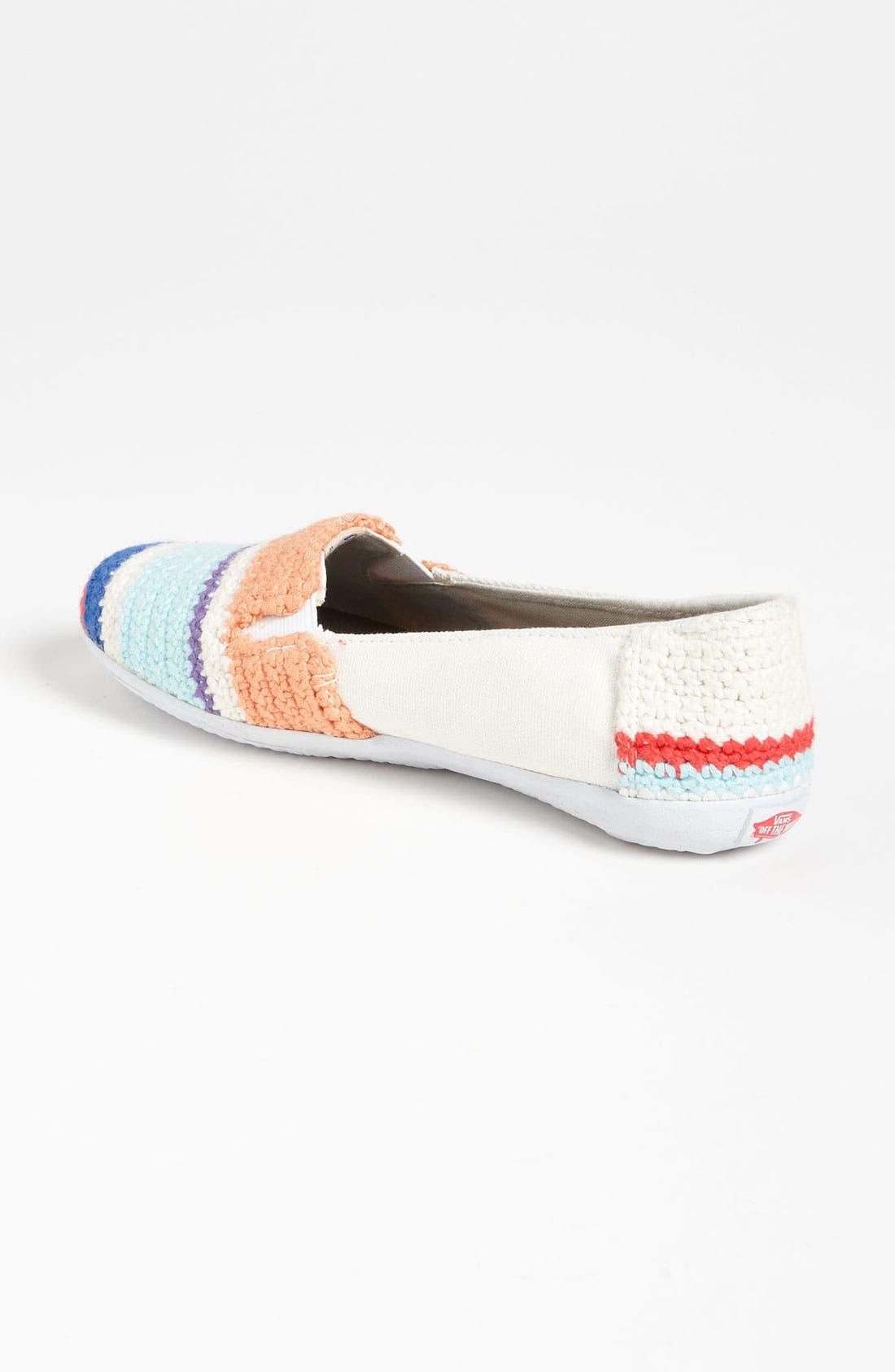 Alternate Image 2  - Vans + Krochet Kids 'Bixie' Crochet Slip-On