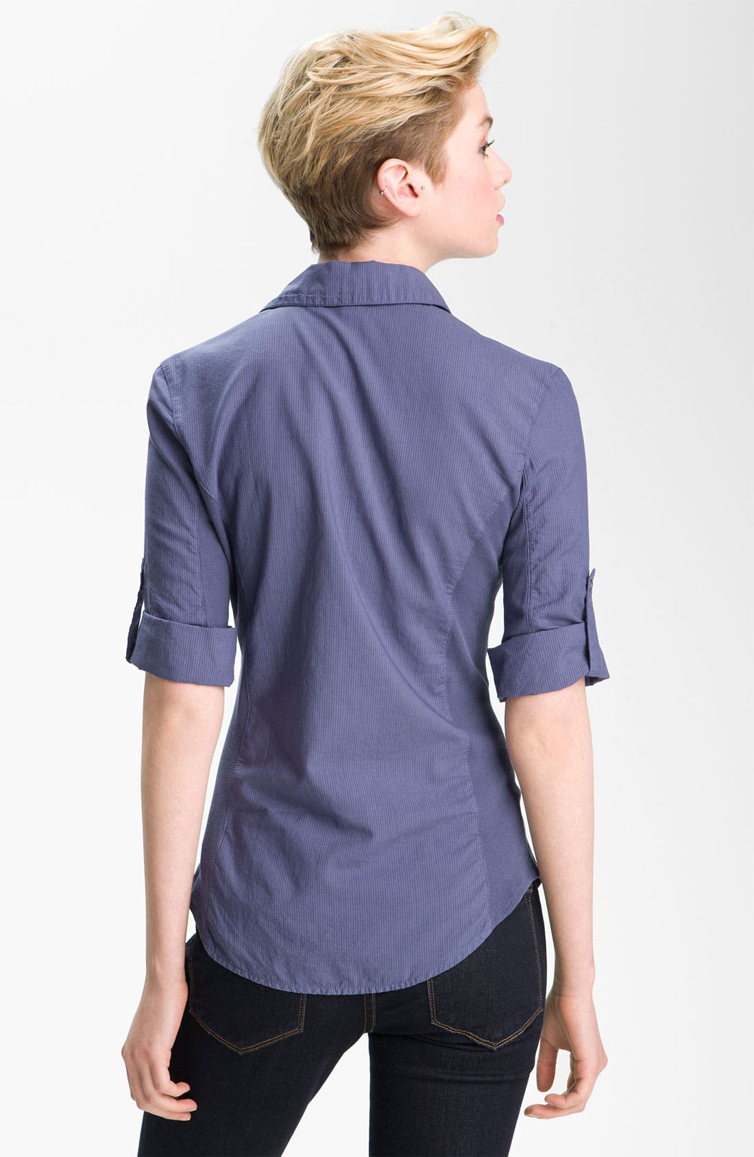 Alternate Image 2  - James Perse Stripe Contrast Panel Shirt
