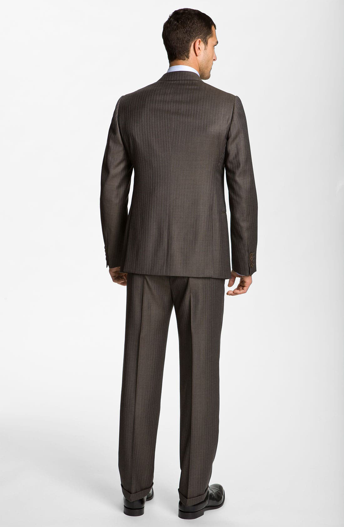 Alternate Image 3  - Armani Collezioni Stripe Wool Suit