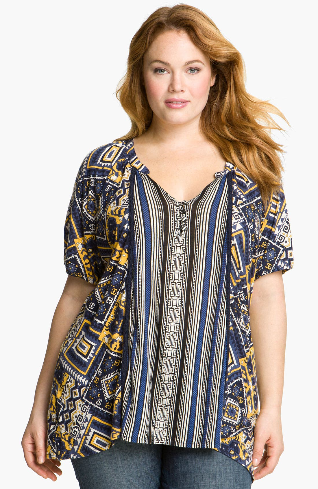 Alternate Image 1 Selected - Lucky Brand 'Tulum Michaela' Top (Plus)