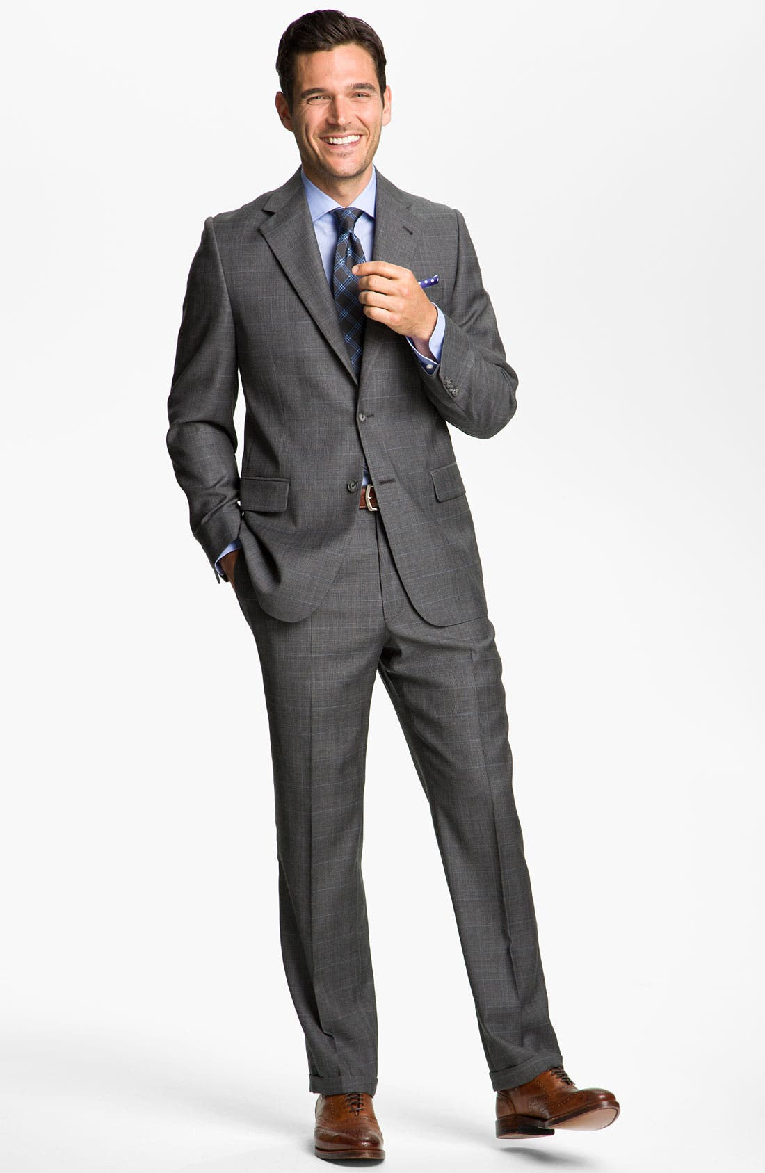Alternate Image 2  - Joseph Abboud 'Signature Silver' Plaid Suit