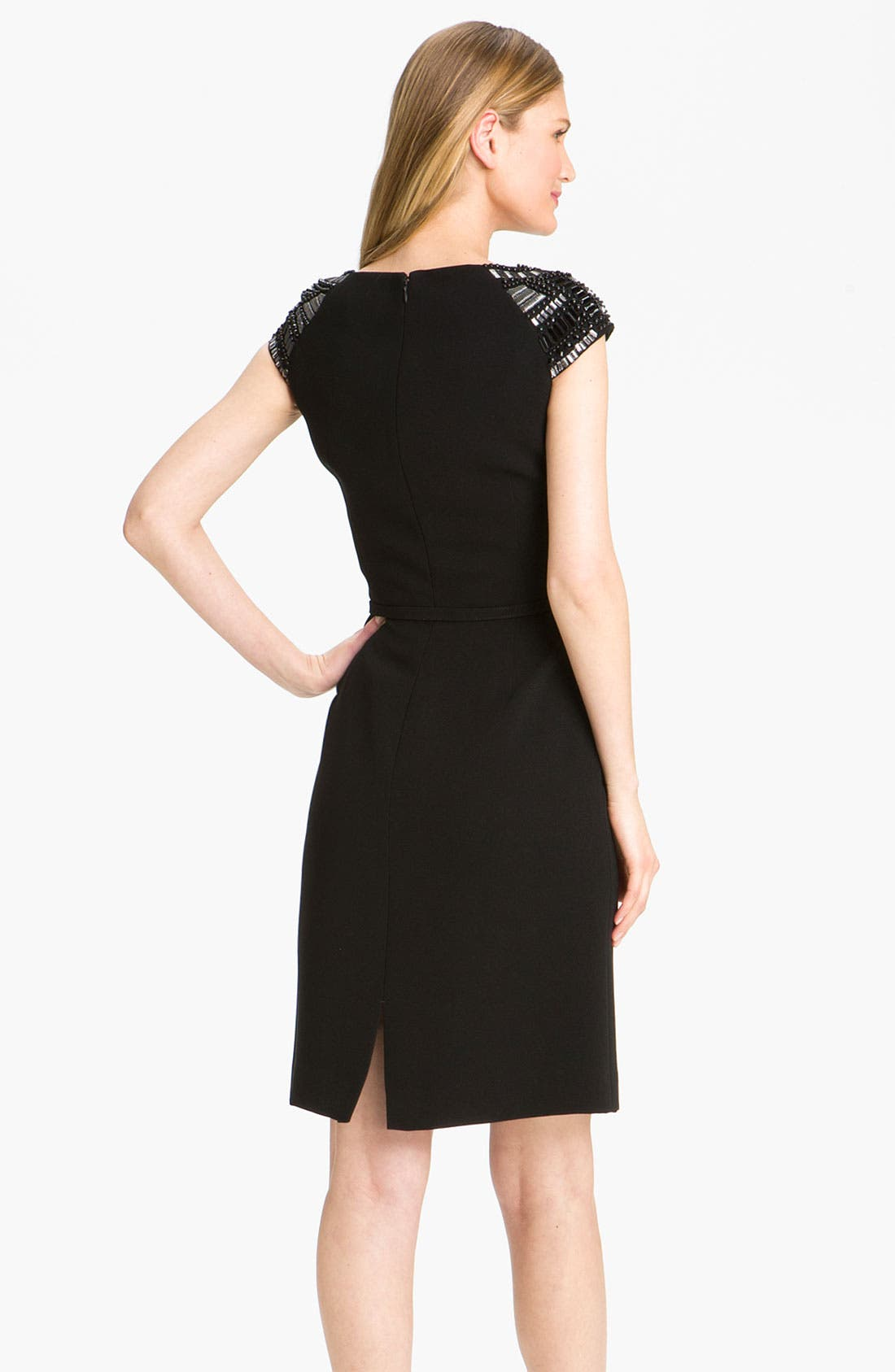 Alternate Image 2  - Tahari by Arthur S. Levine Embellished Cap Sleeve Sheath Dress