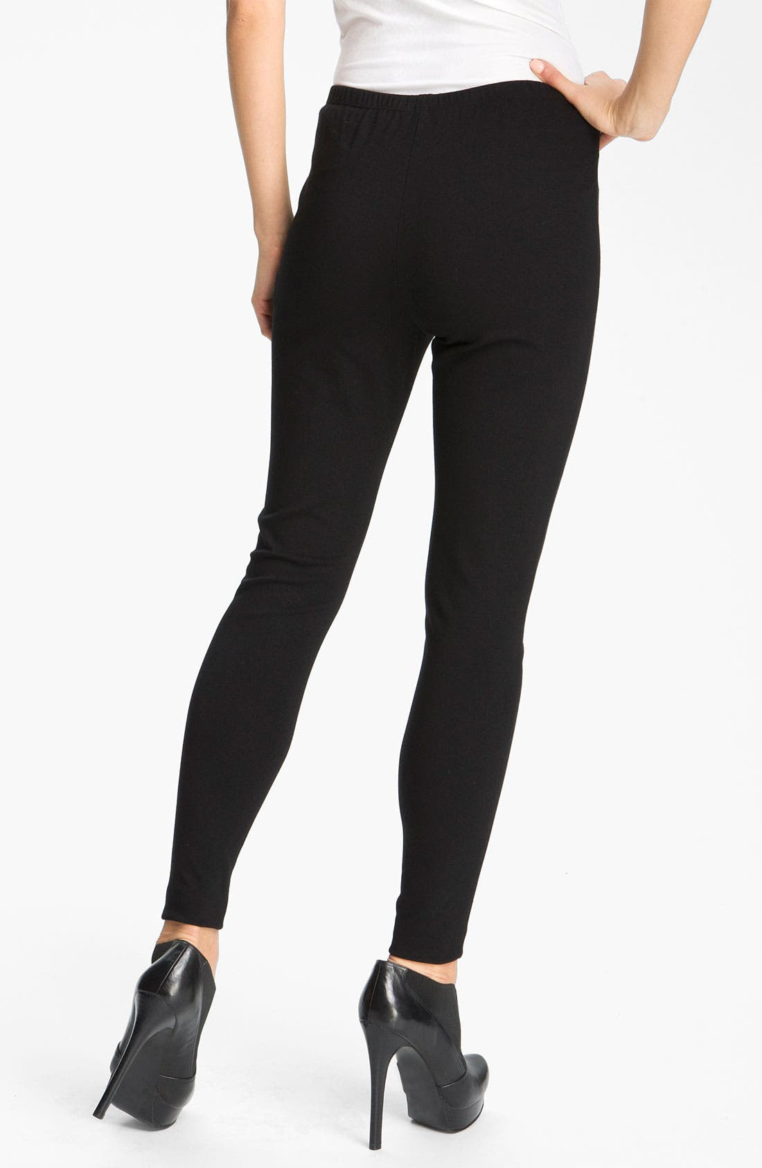 Alternate Image 2  - Lafayette 148 New York Punto Milano Knit Leggings
