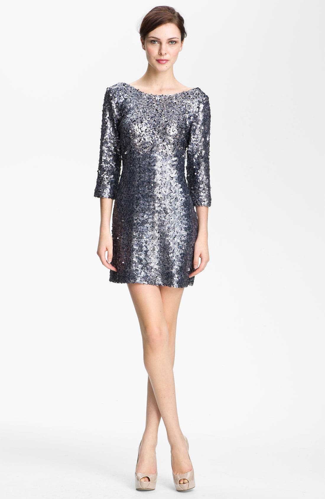 Alternate Image 1 Selected - Alberto Makali Sequin Open Back Minidress