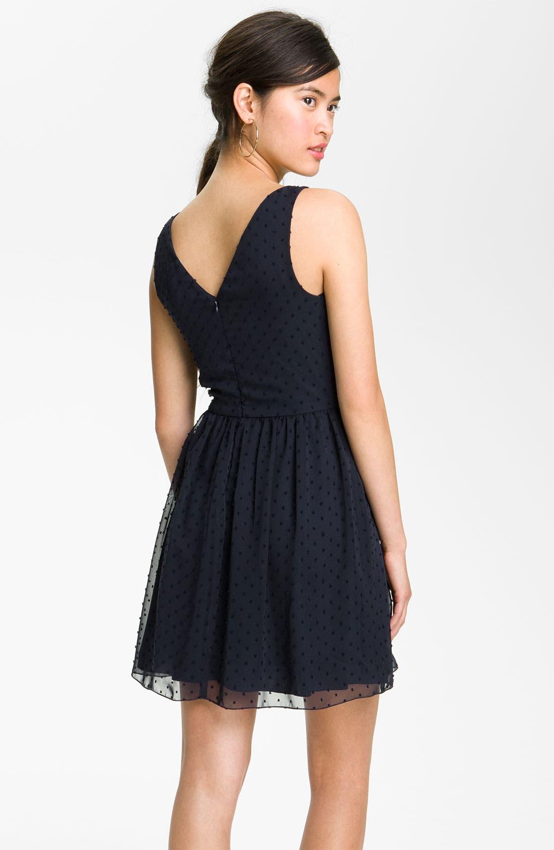 Alternate Image 2  - Jump Apparel Sweet Swiss Dot Dress (Juniors)