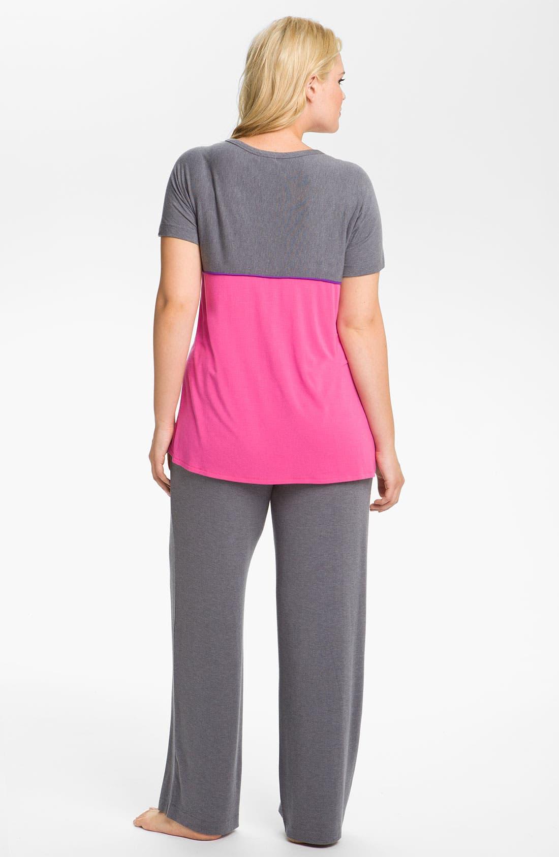 Alternate Image 2  - DKNY 'Standout' Pajamas (Plus)
