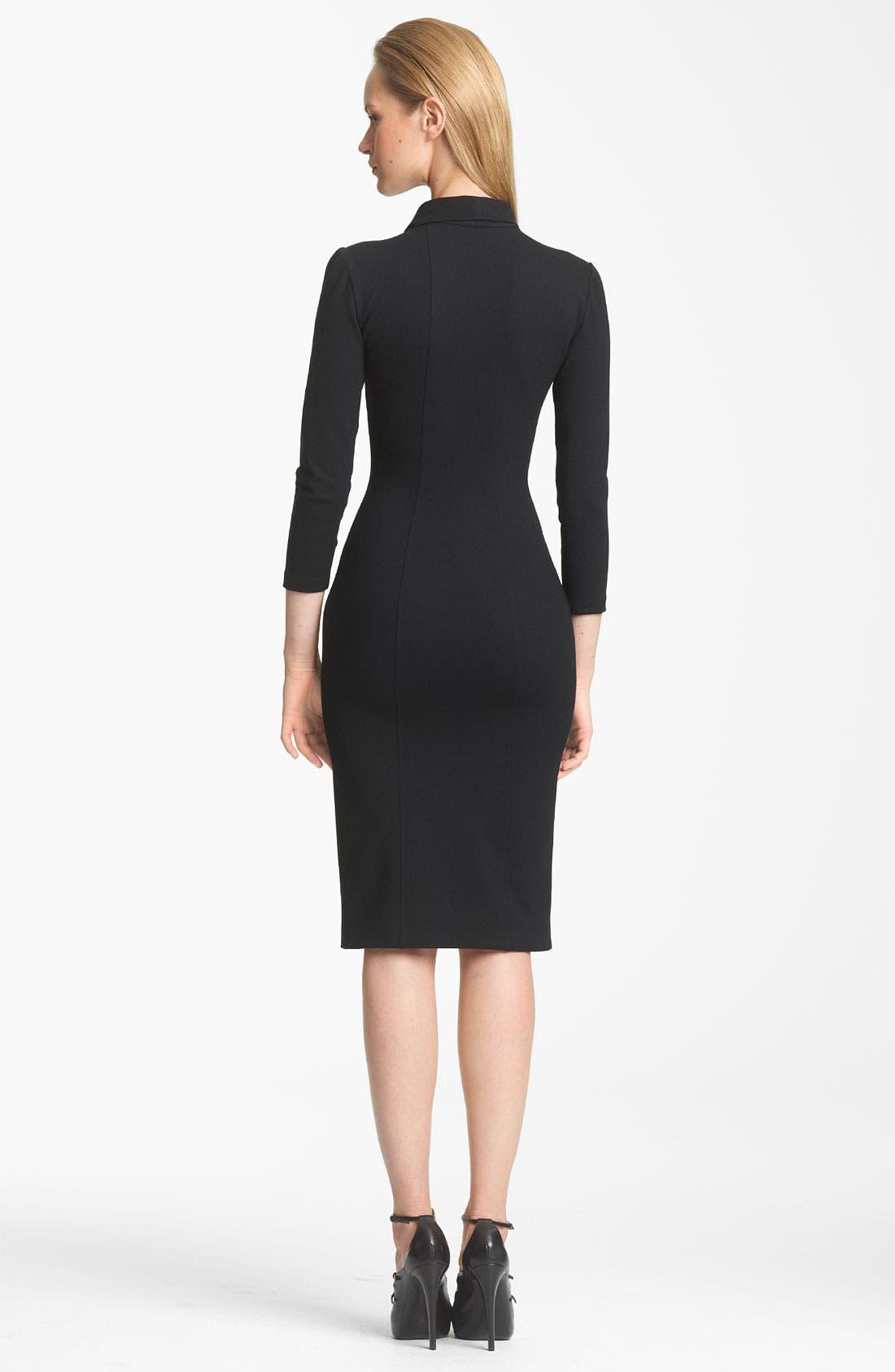 Alternate Image 2  - Armani Collezioni Zip Detail Jersey Dress