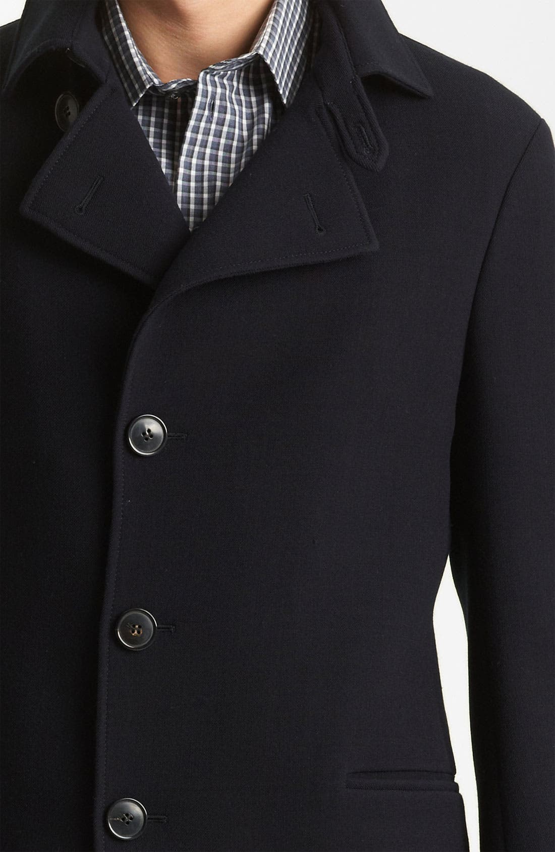 Alternate Image 3  - Armani Collezioni Twill Top Coat