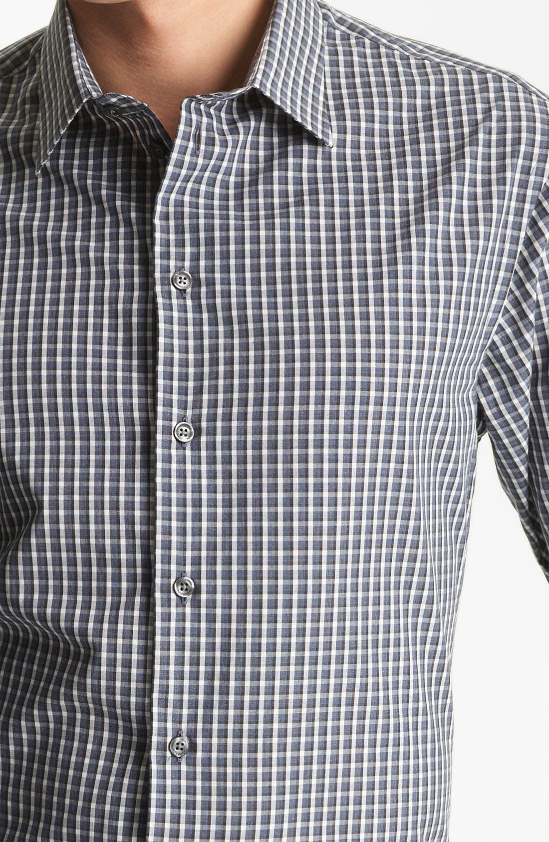 Alternate Image 3  - Armani Collezioni Check Plaid Sport Shirt