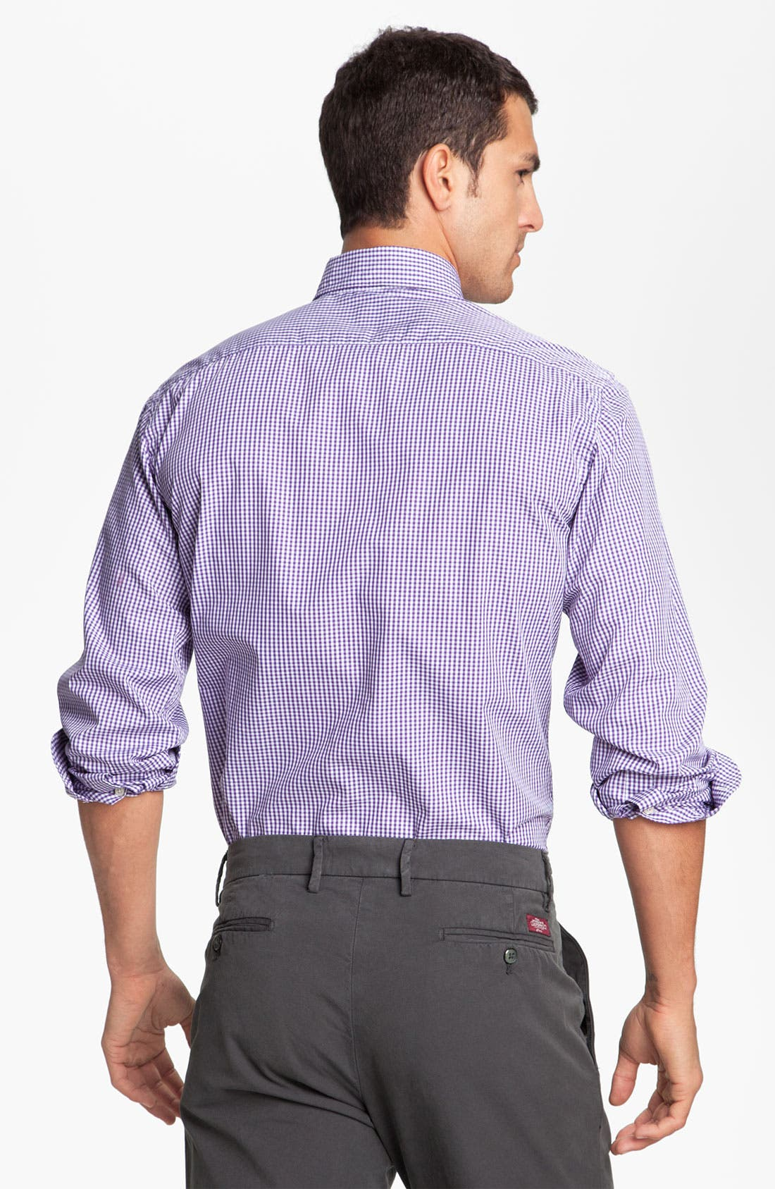Alternate Image 2  - Mason's Micro Gingham Cotton Shirt