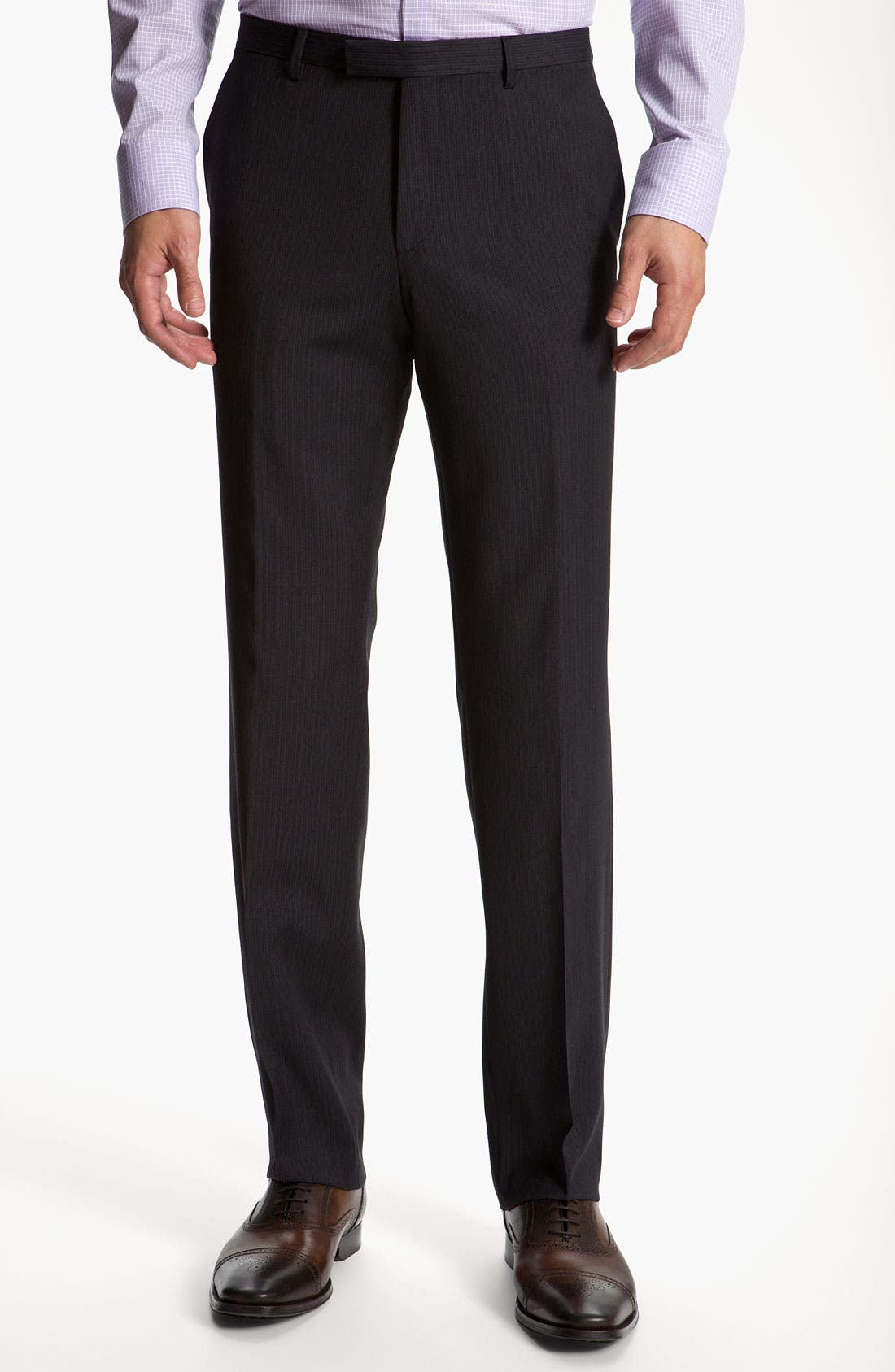 Alternate Image 4  - BOSS Black 'James/Sharp' Trim Fit Three Piece Suit