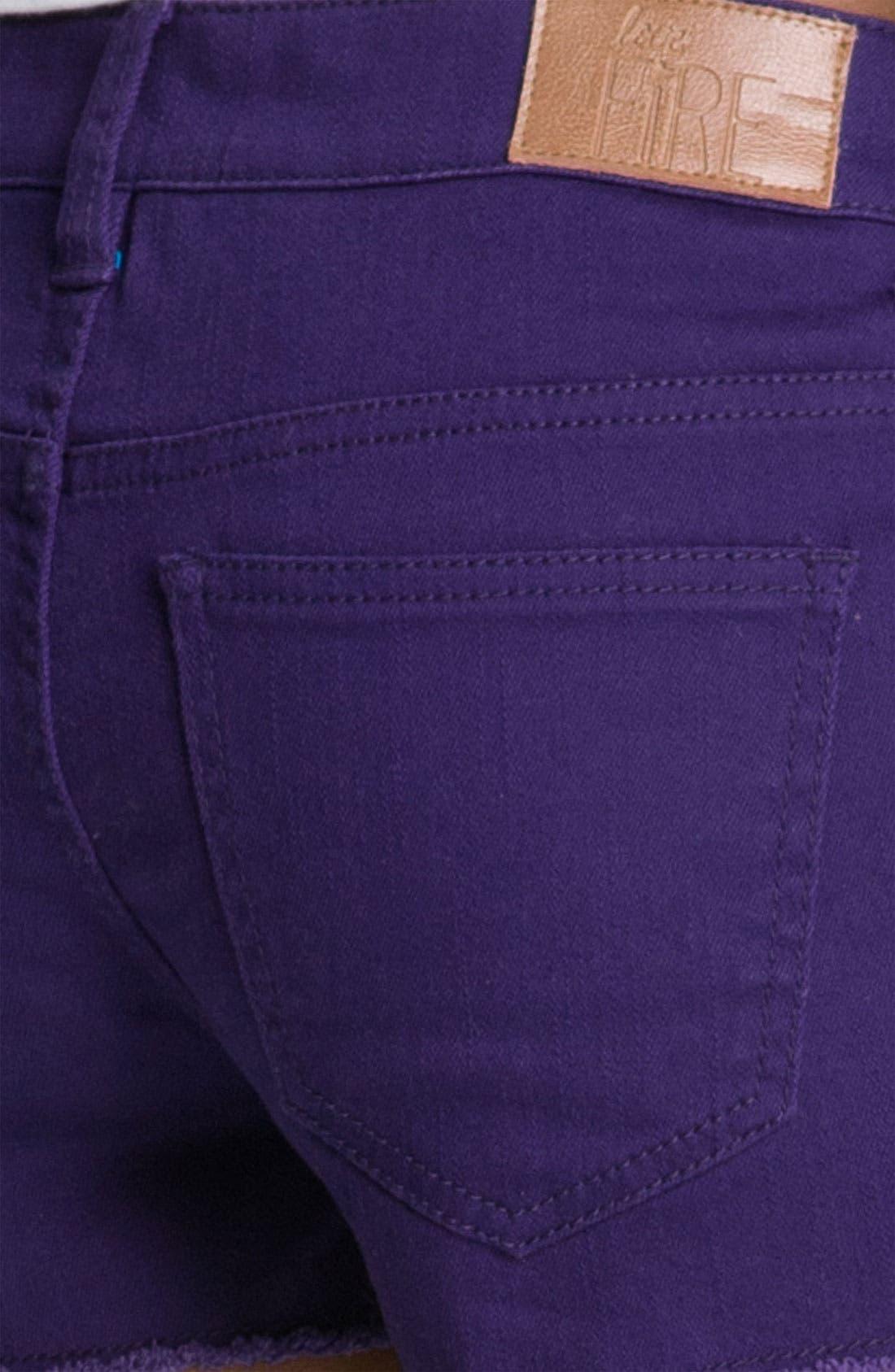 Alternate Image 3  - Fire Cutoff Denim Shorts (Juniors)